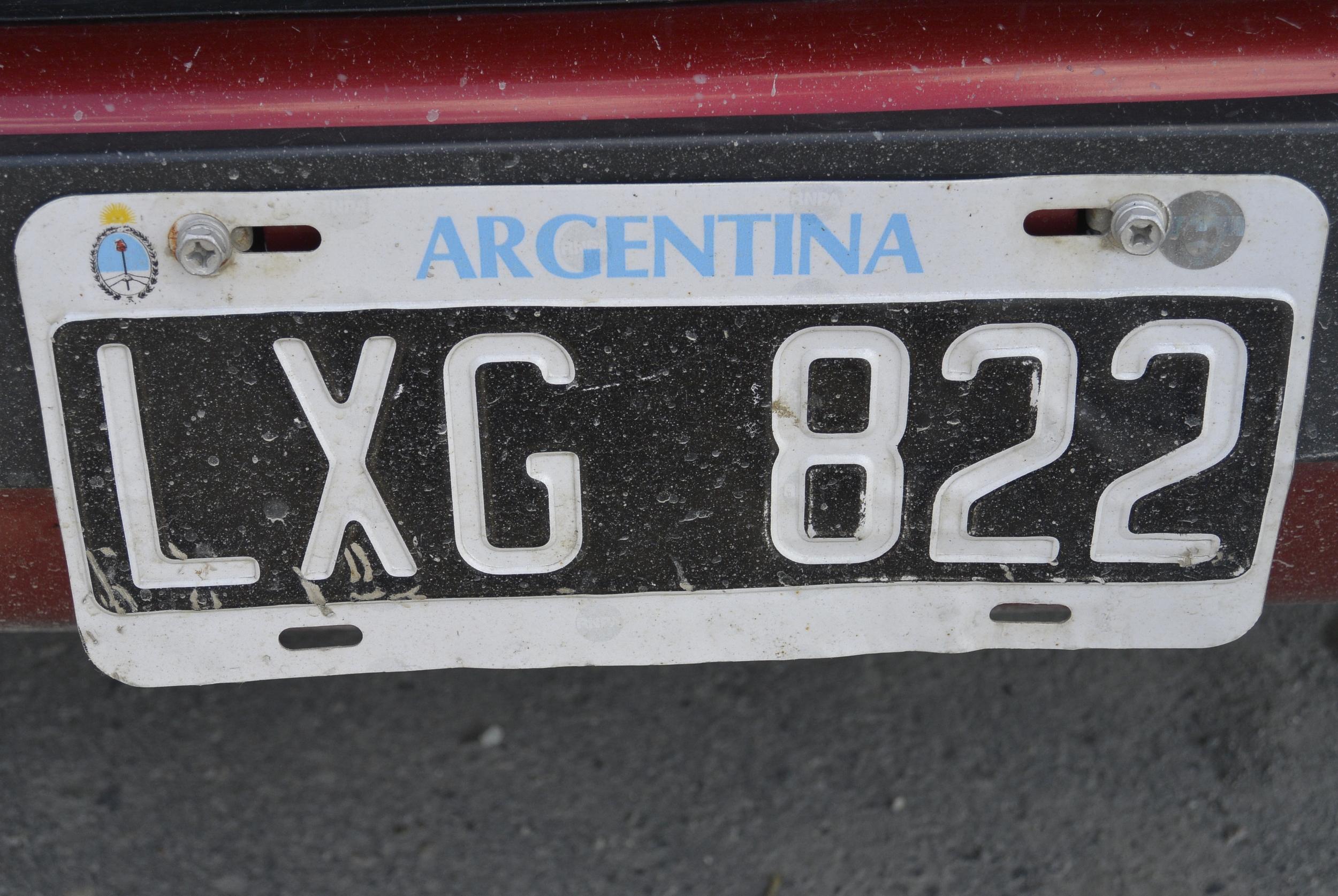 Ushuaia Argentina Car License Plate