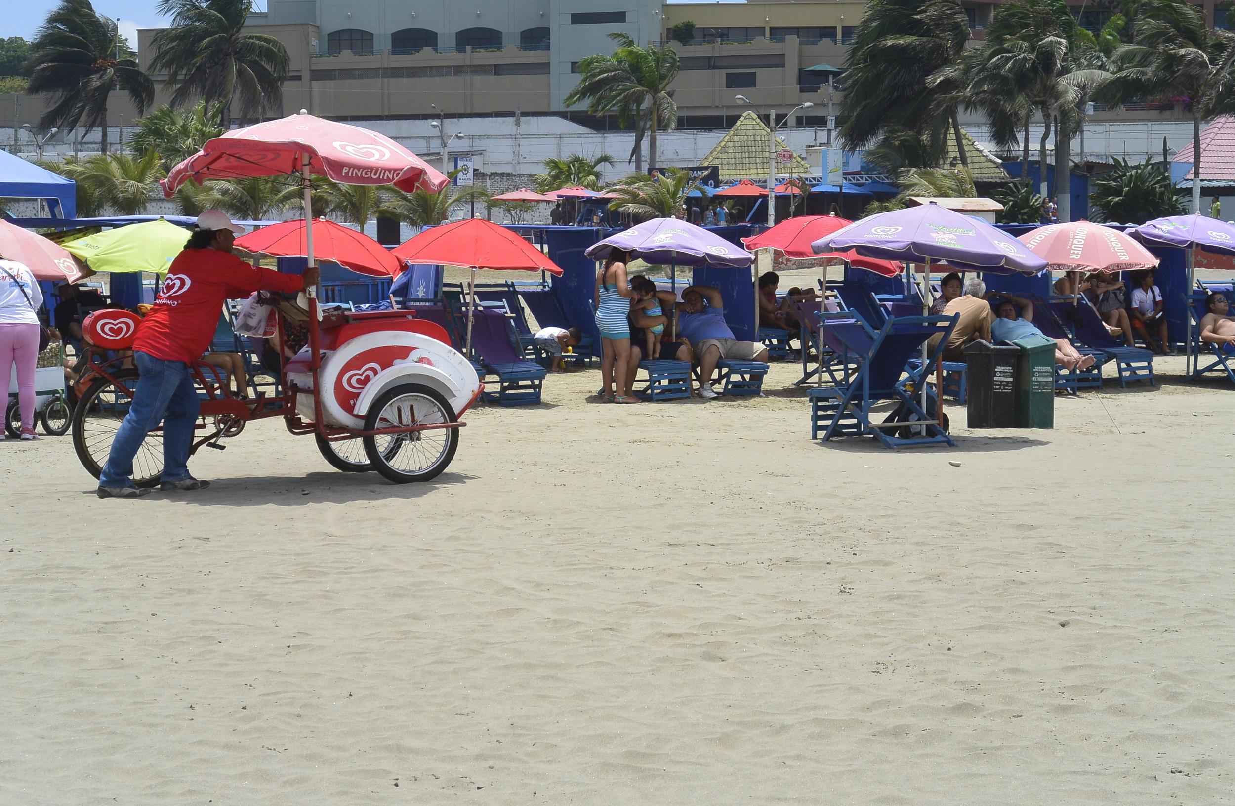 Manta Ecuador Beach Umbrellas