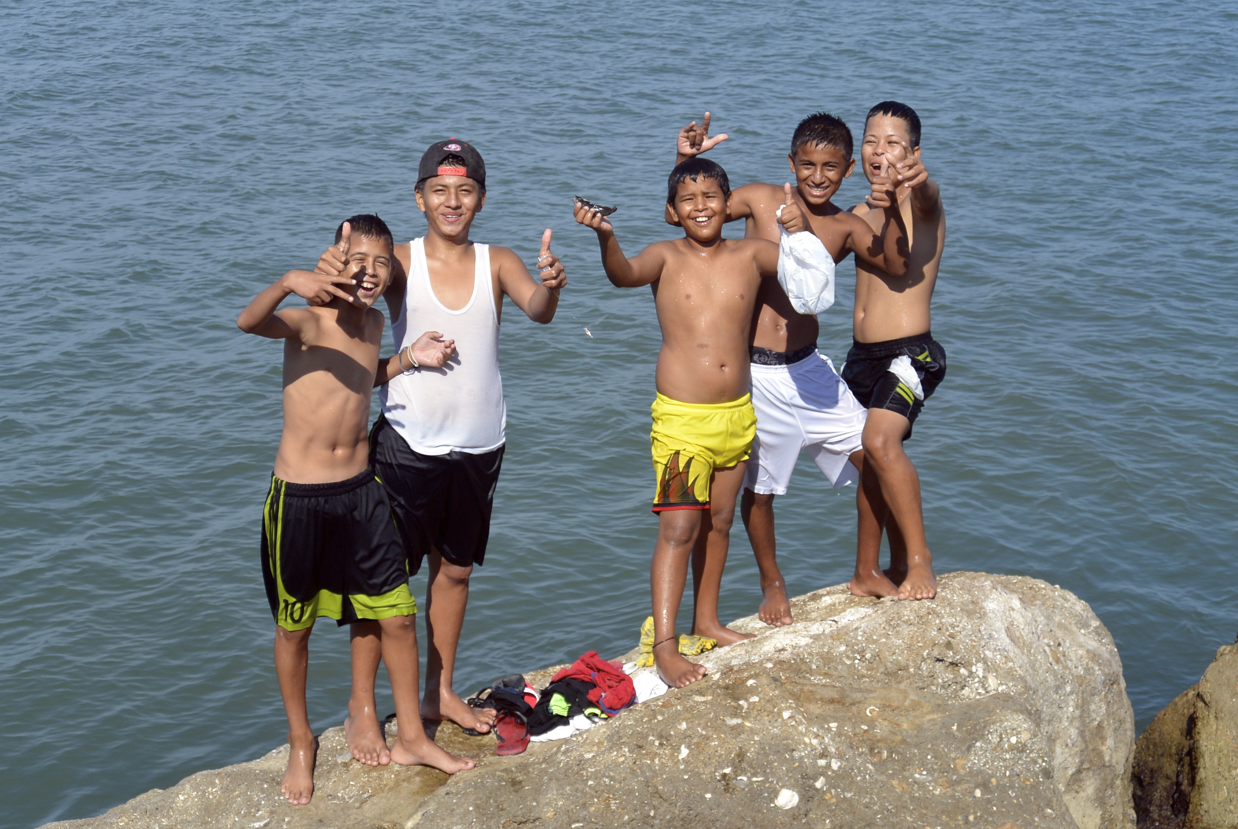 Manta Ecuador Children Playing