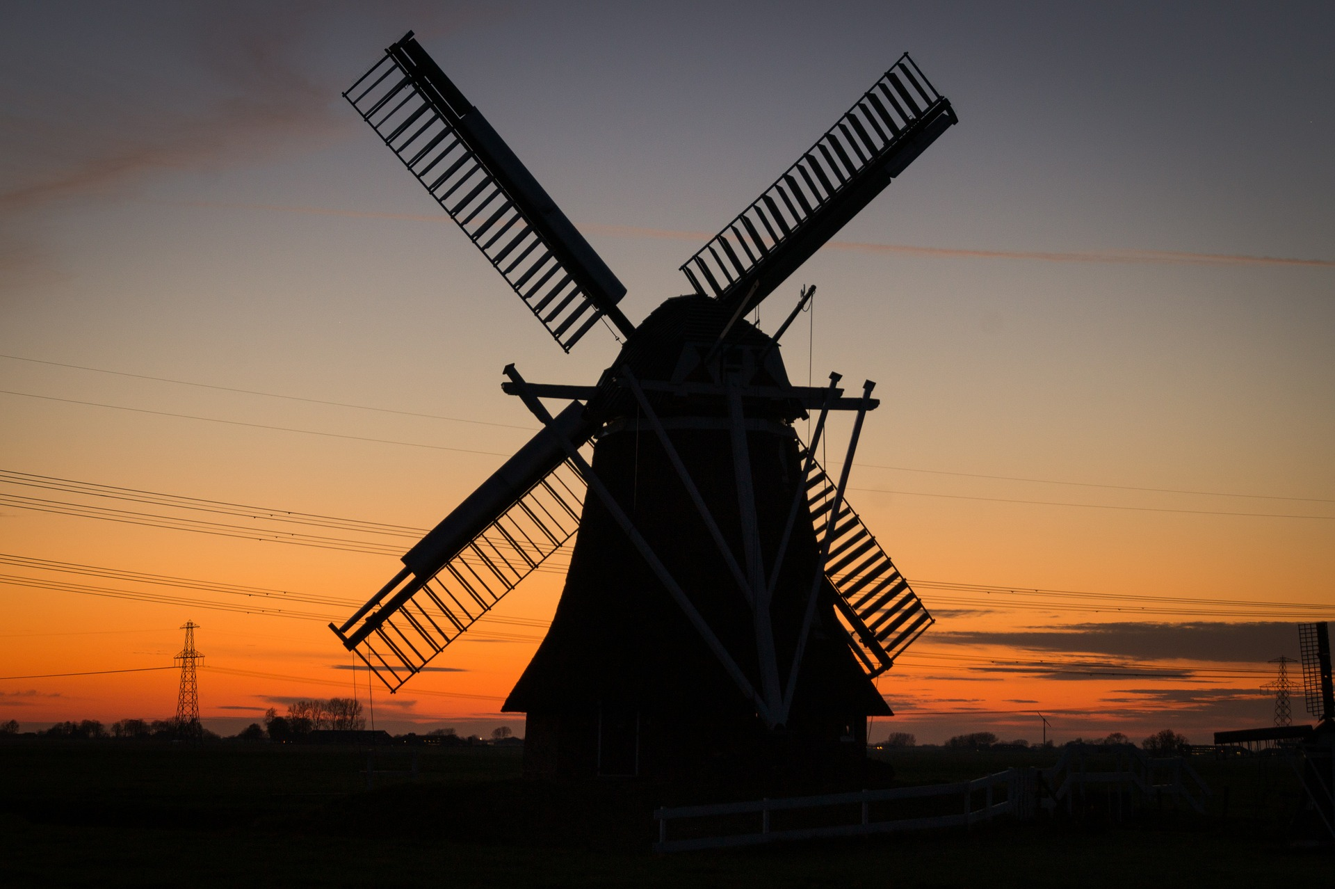 Windmill in Holland - Photograph courtesy of  Pixabay
