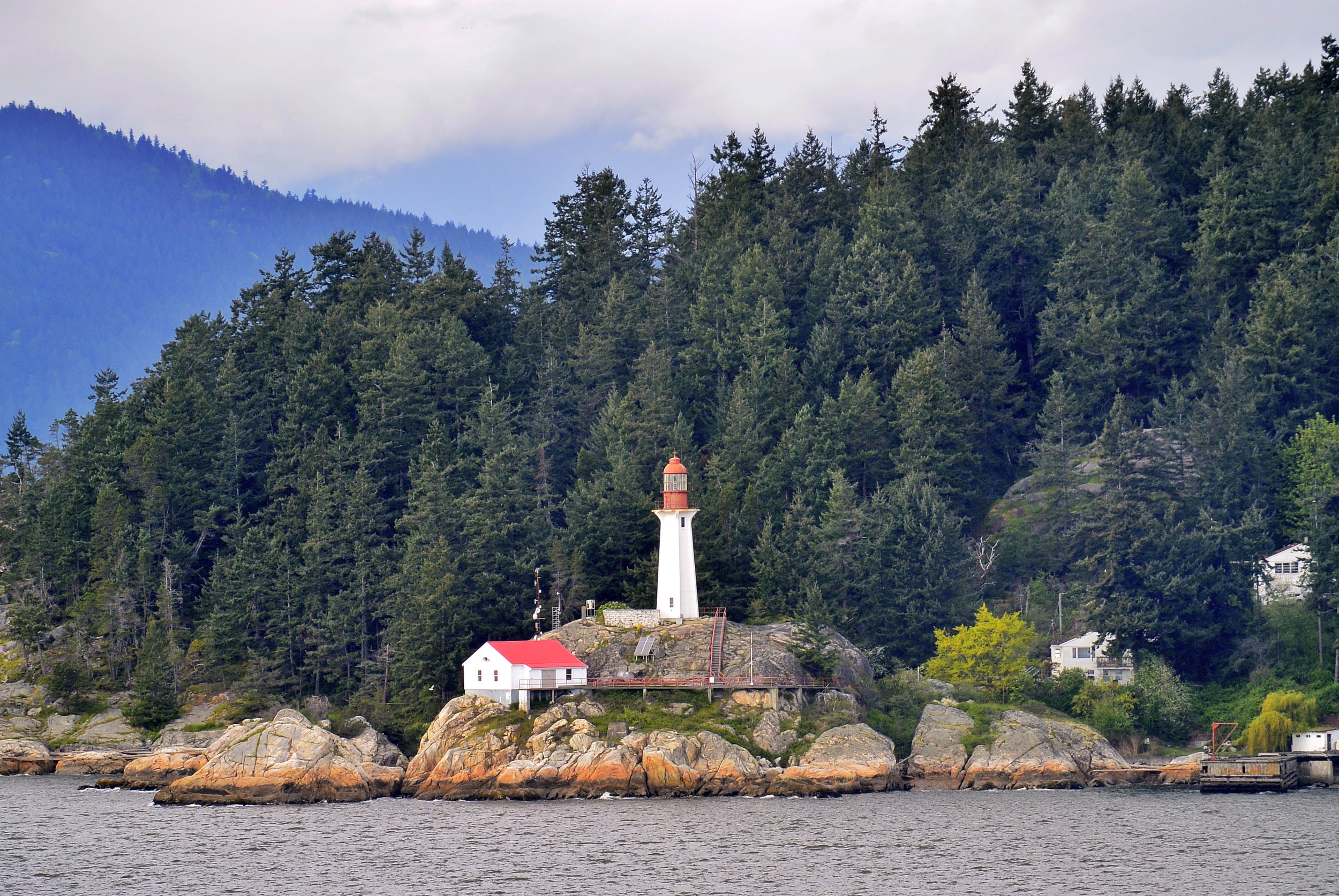 Pacific Ocean lighthouse Vancouver