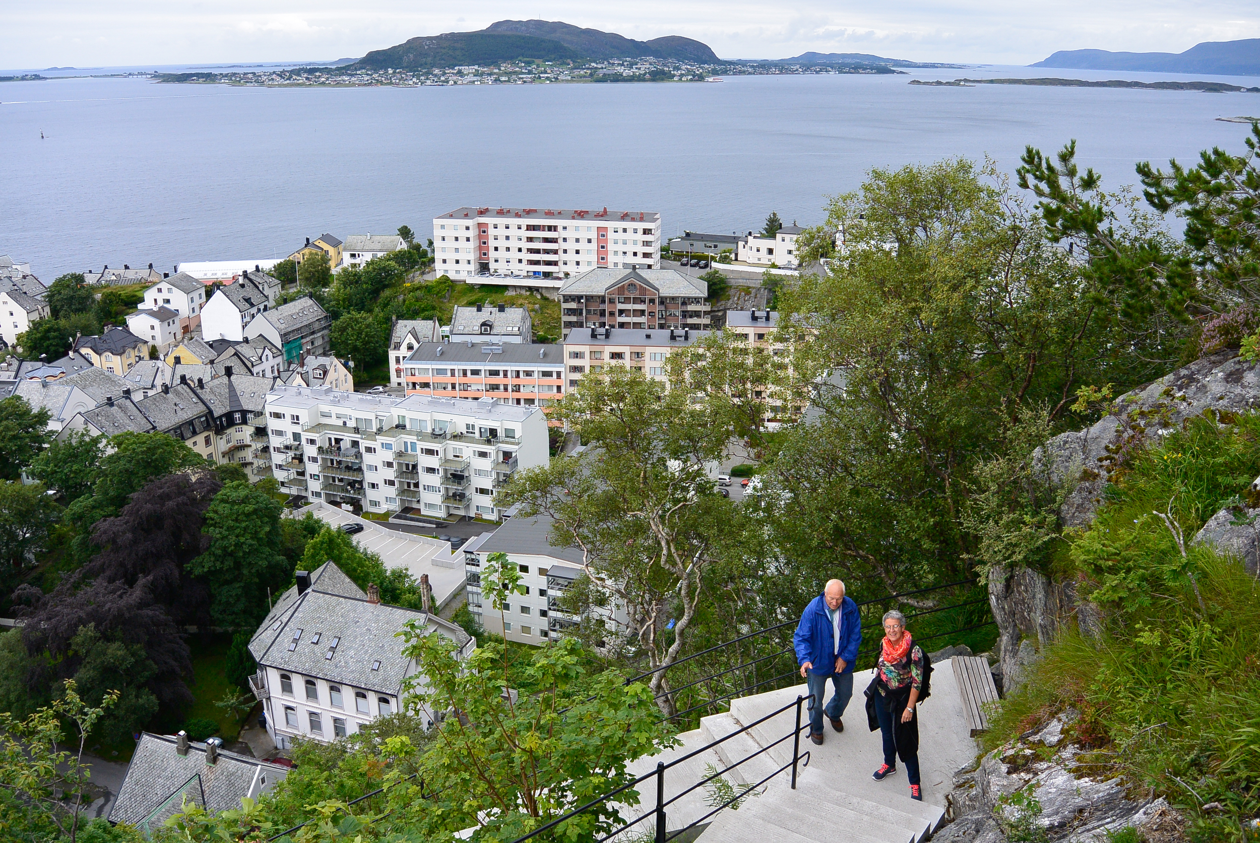 Walking up to Aksla VIewpoint Ålesund