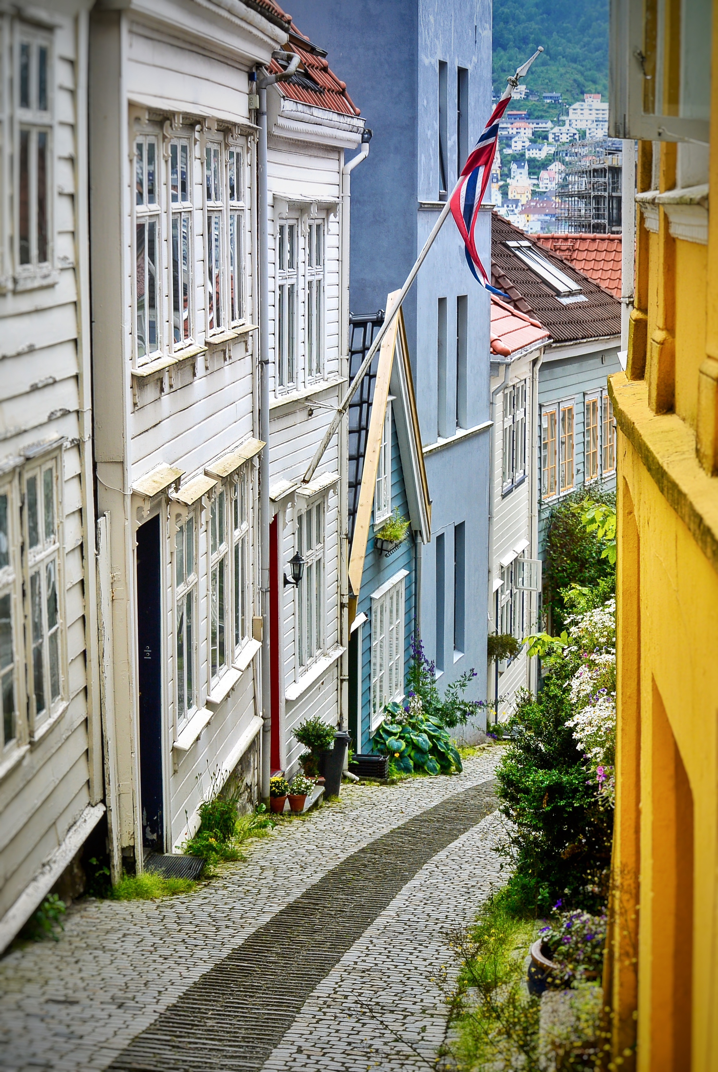 Downtown Bergen Alley and houses
