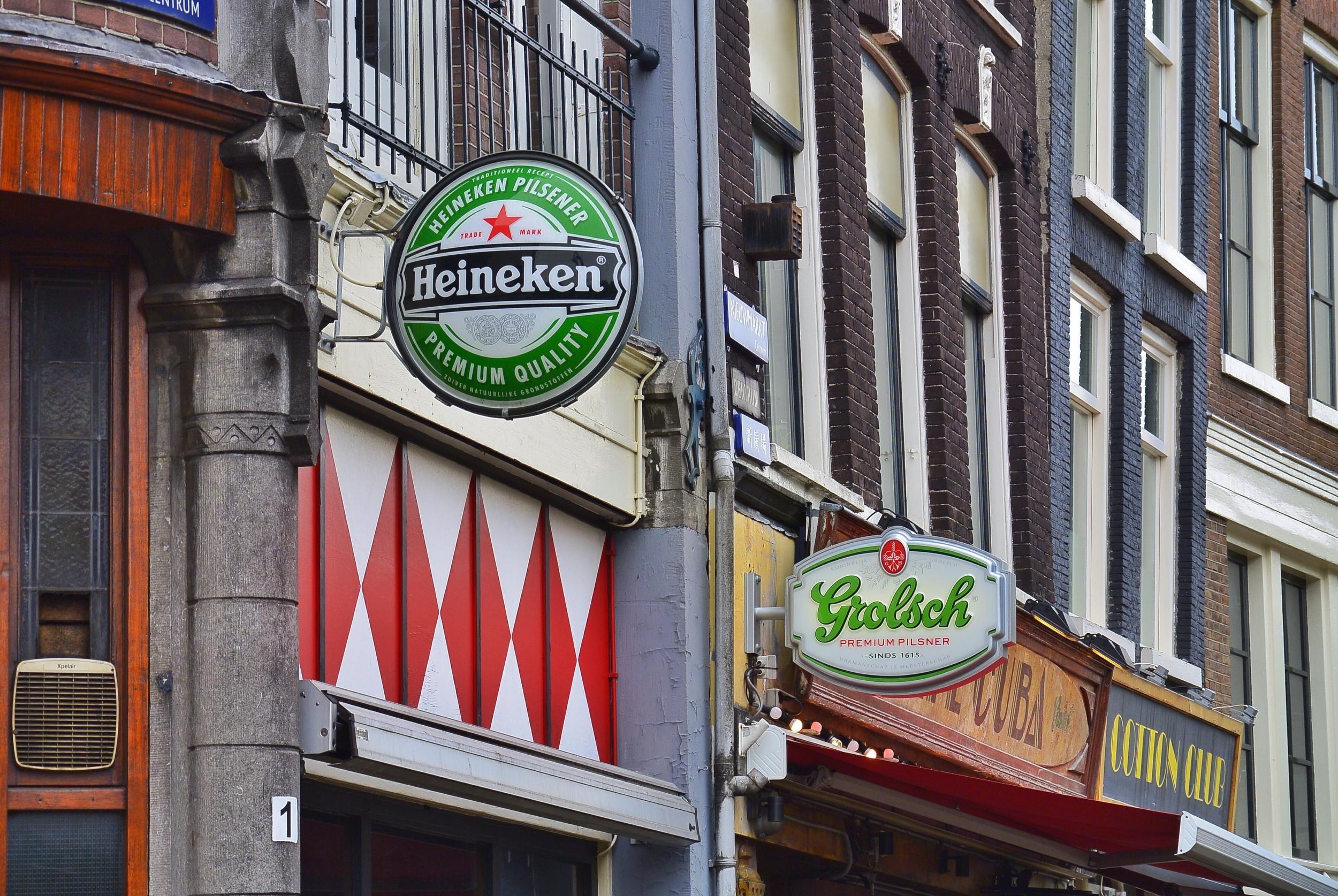 Amsterdam Heineken Sign