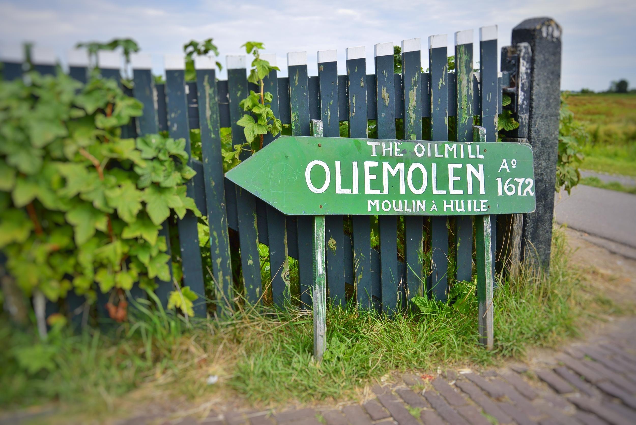 Oil Mill Sign in Zaanse Schans