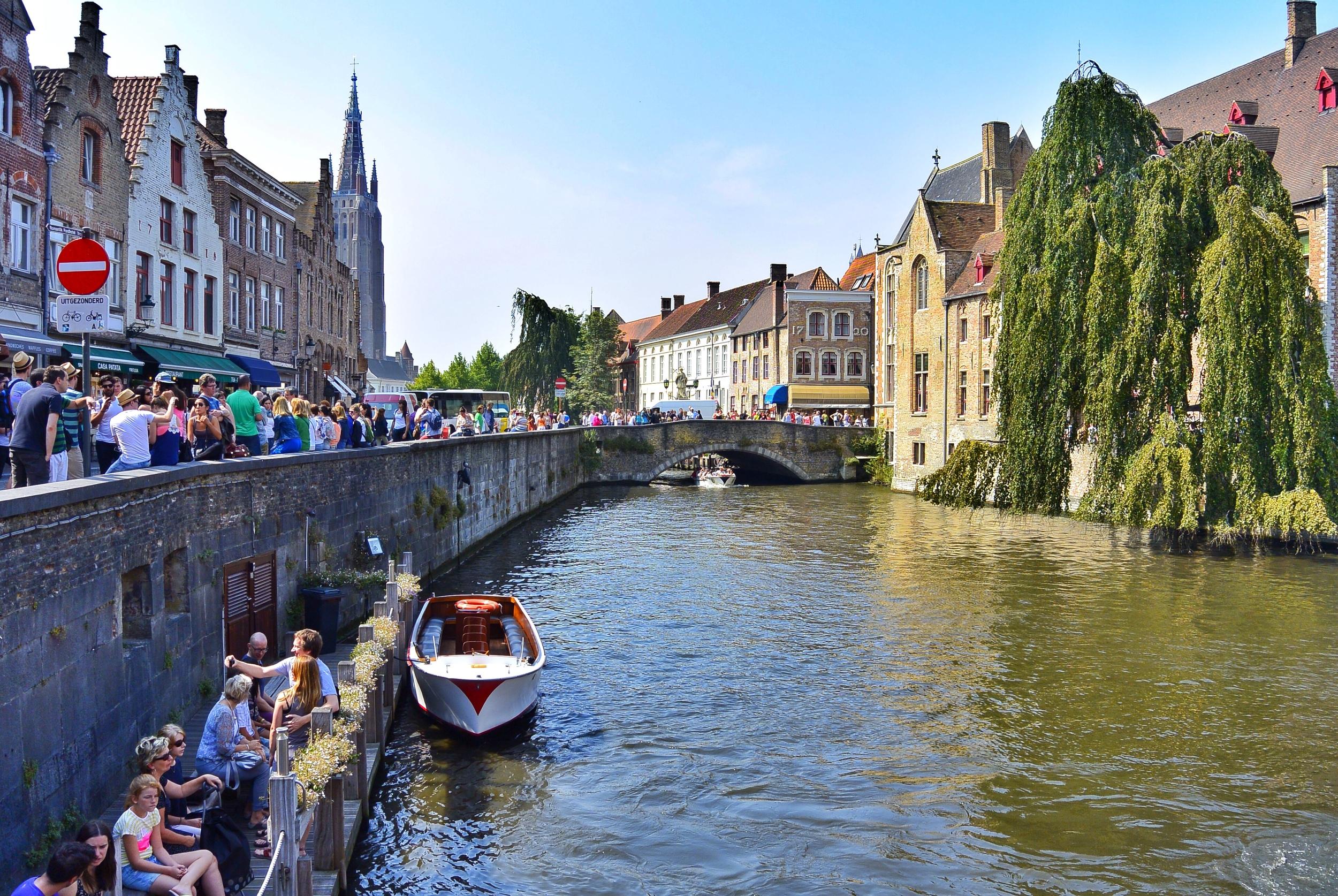 The most photographed spot in Bruges: Rozenhoedkaai