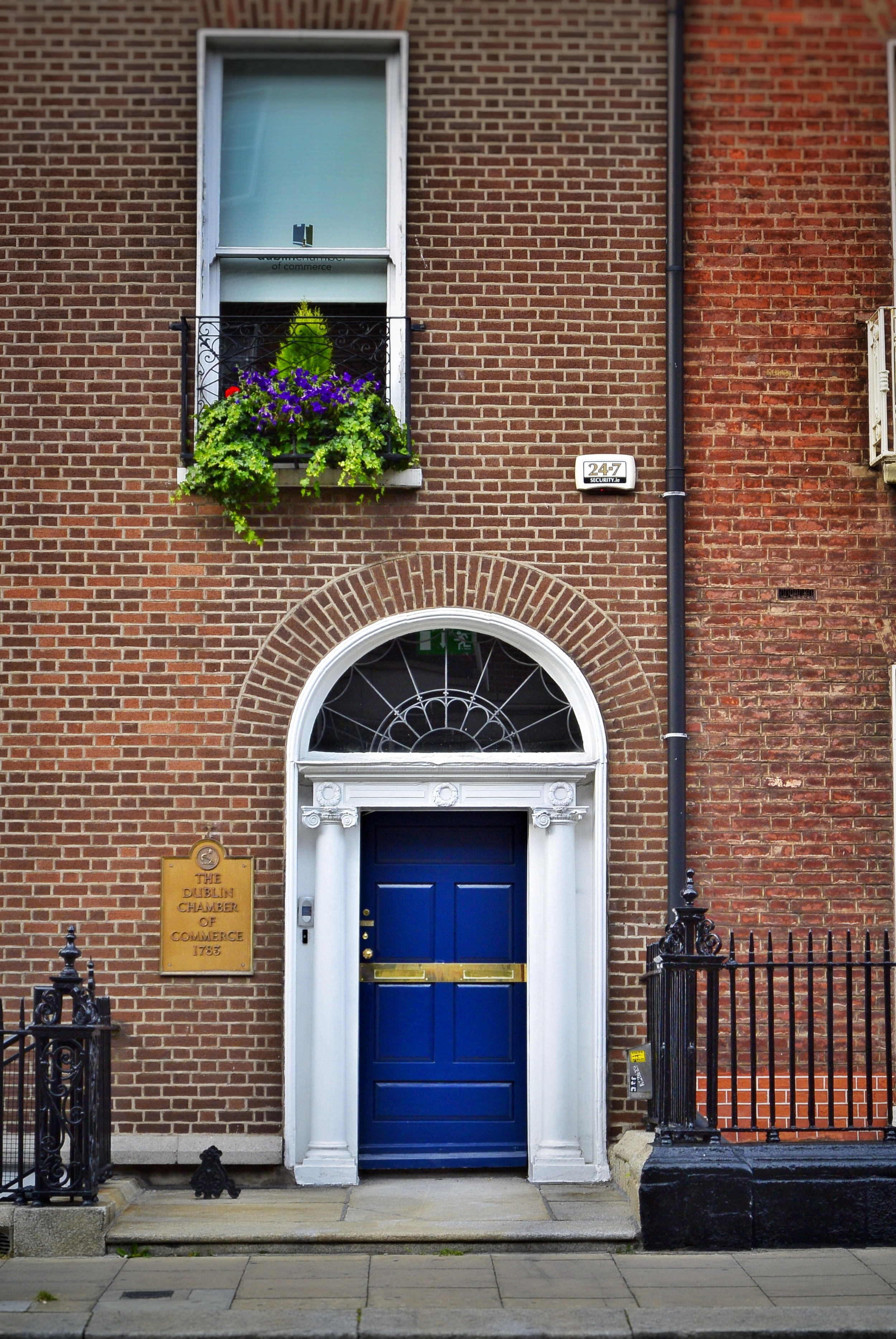 COLORFUL DOOr NEAR MERRION SQUARE IN DUBLIN
