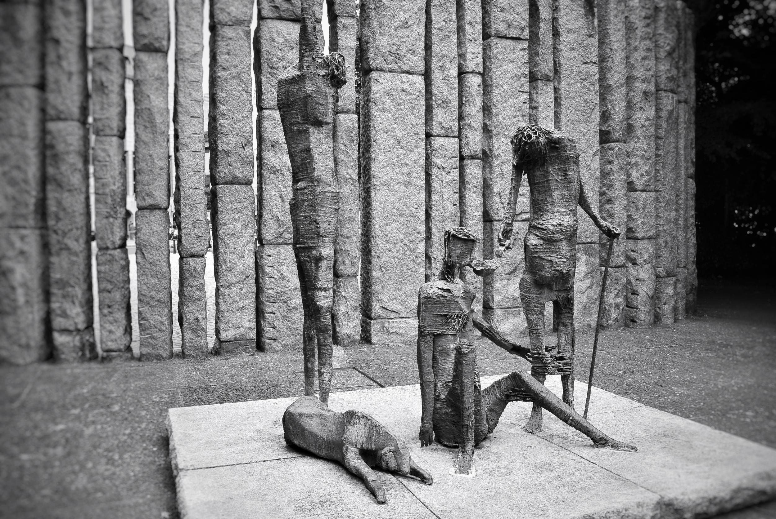 Famine Statue Dublin