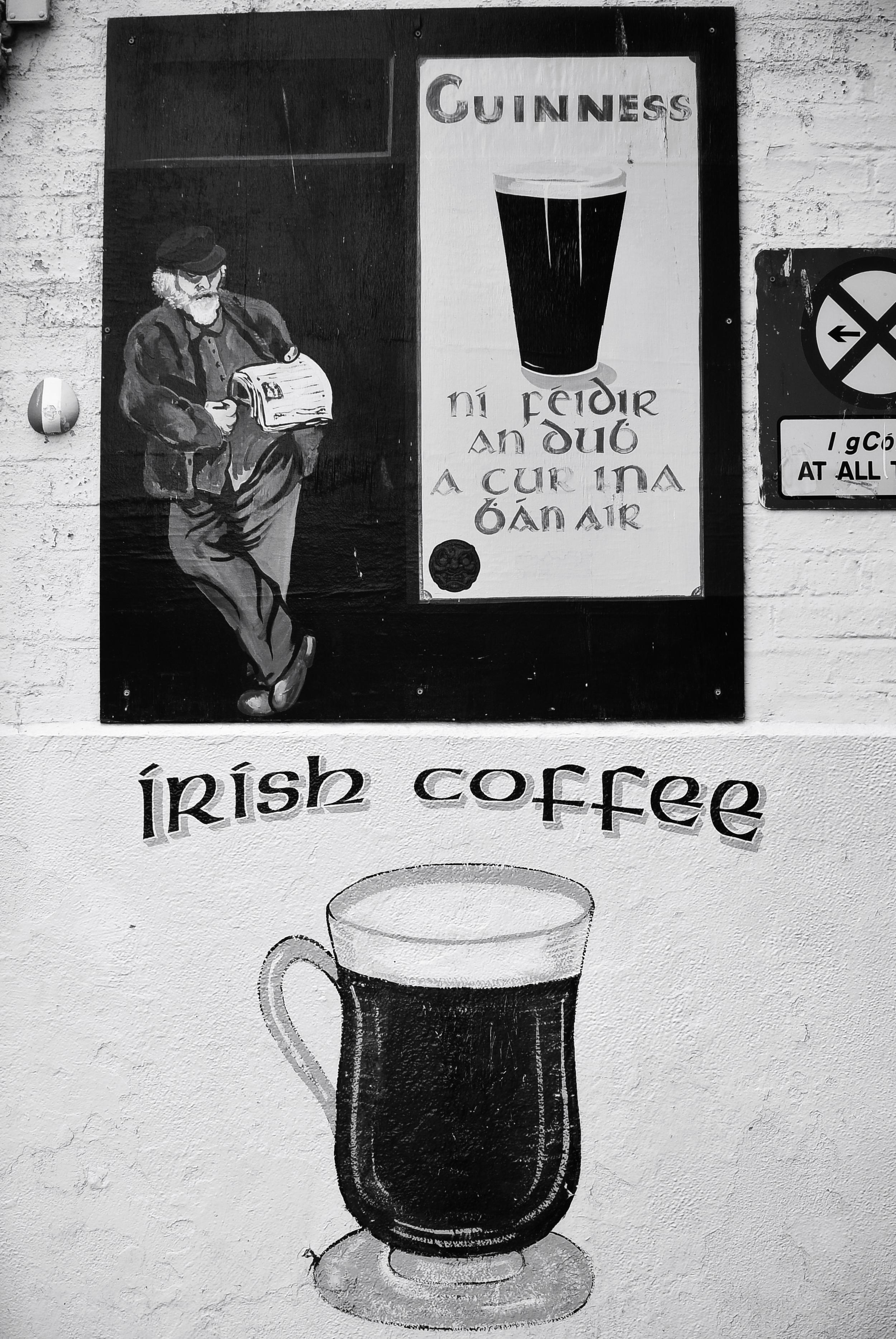 Guinness and Irish Coffee Street Art, Dublin