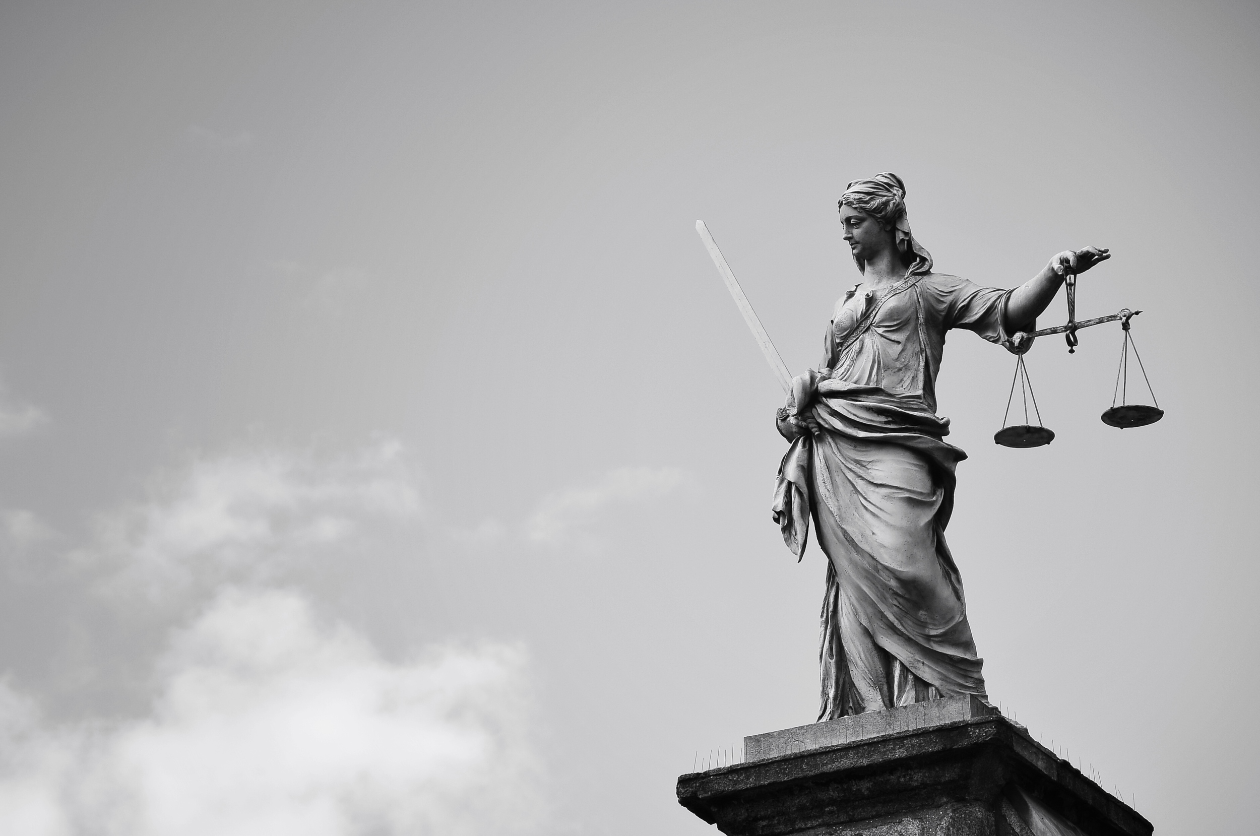 Lady Justice Scales in Dublin