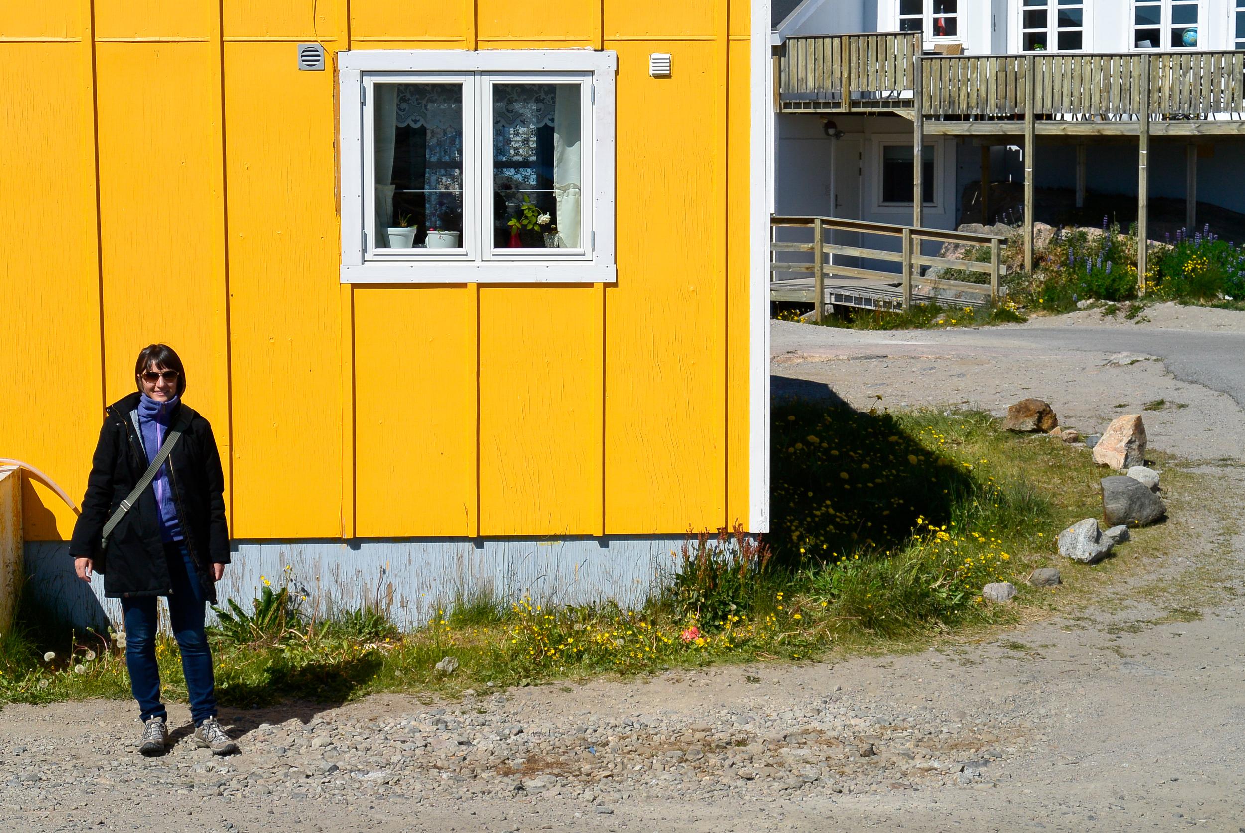 Yellow Greenlandic house