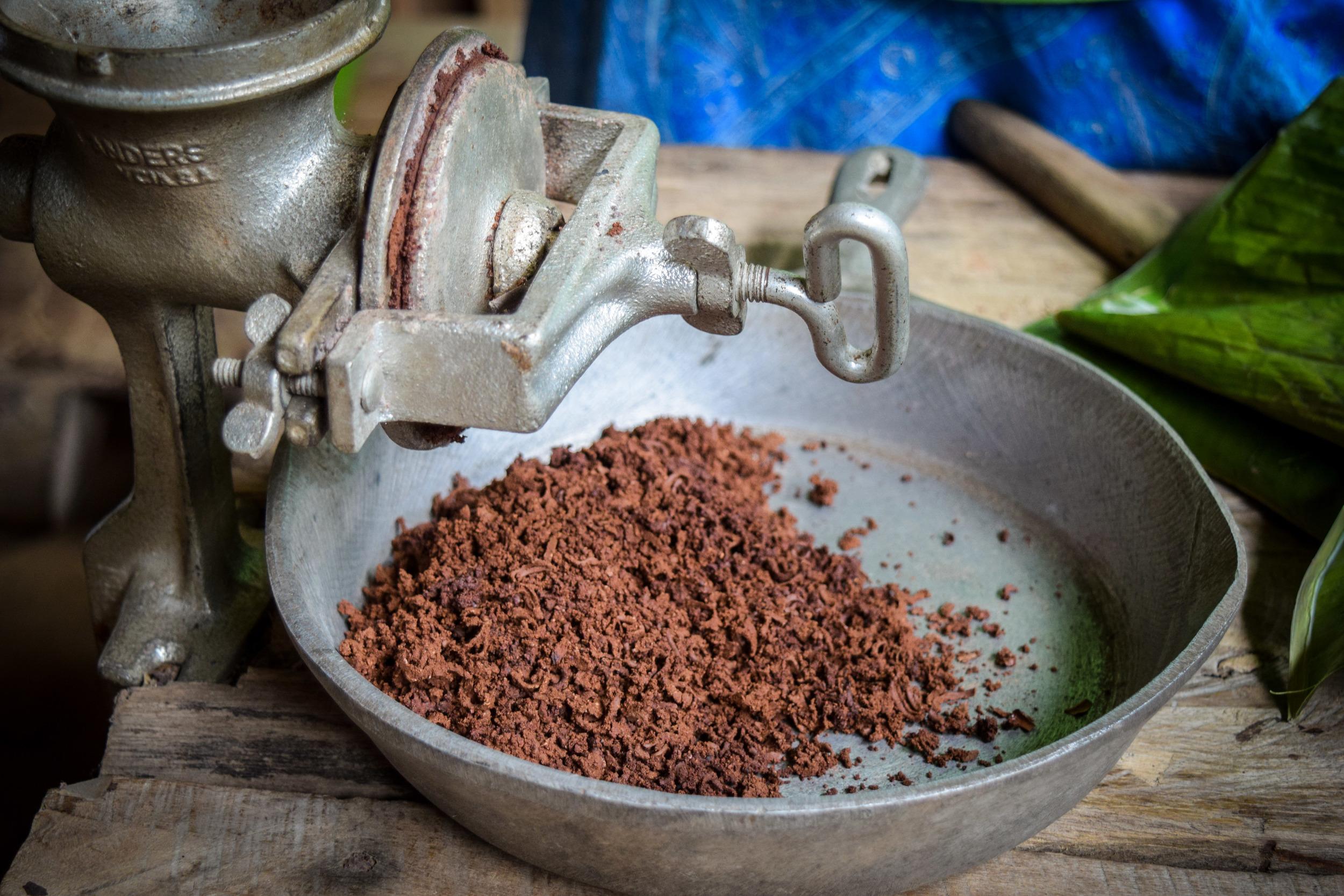 Ground cacao