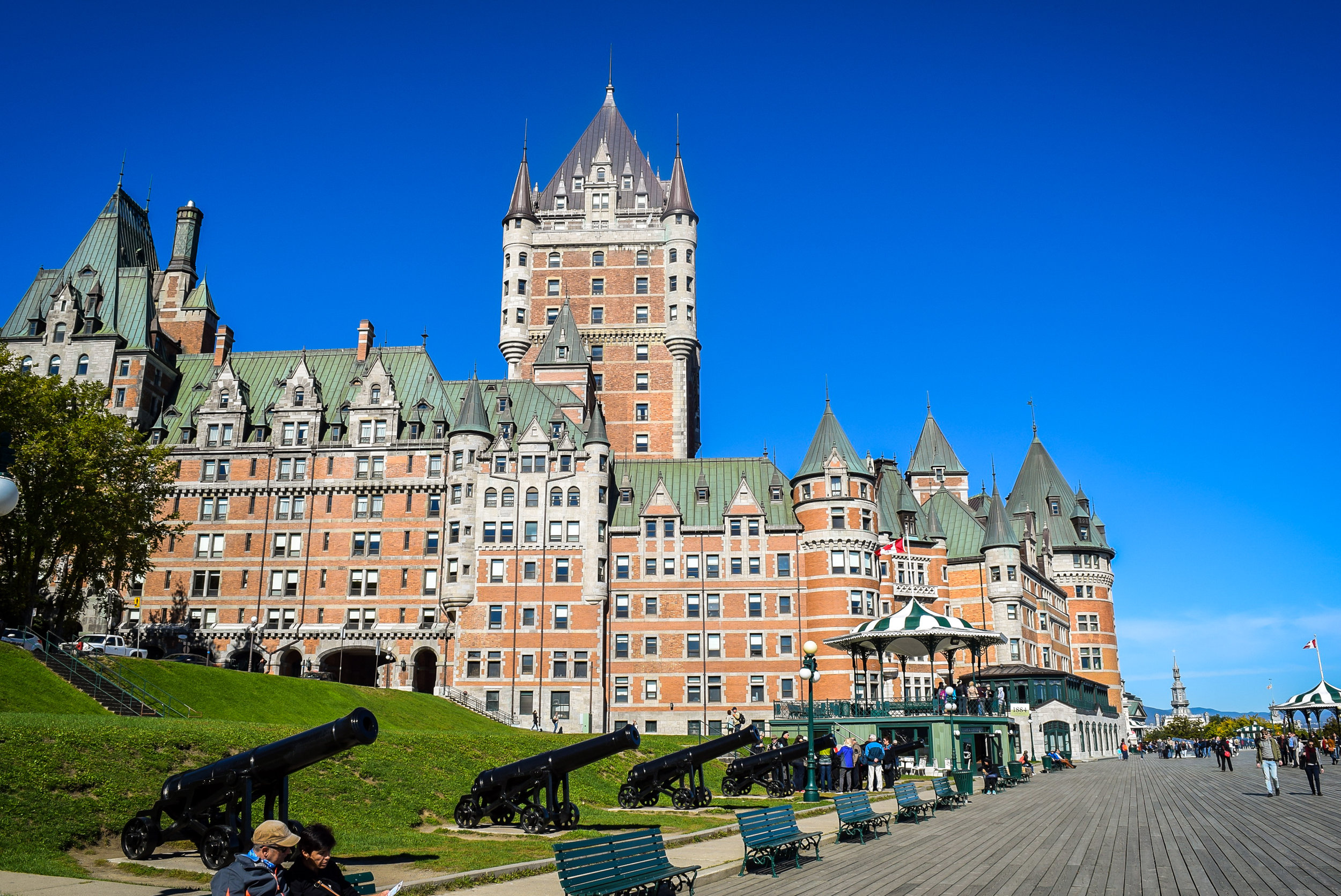 Château Frontenac and Terrasse Dufferin
