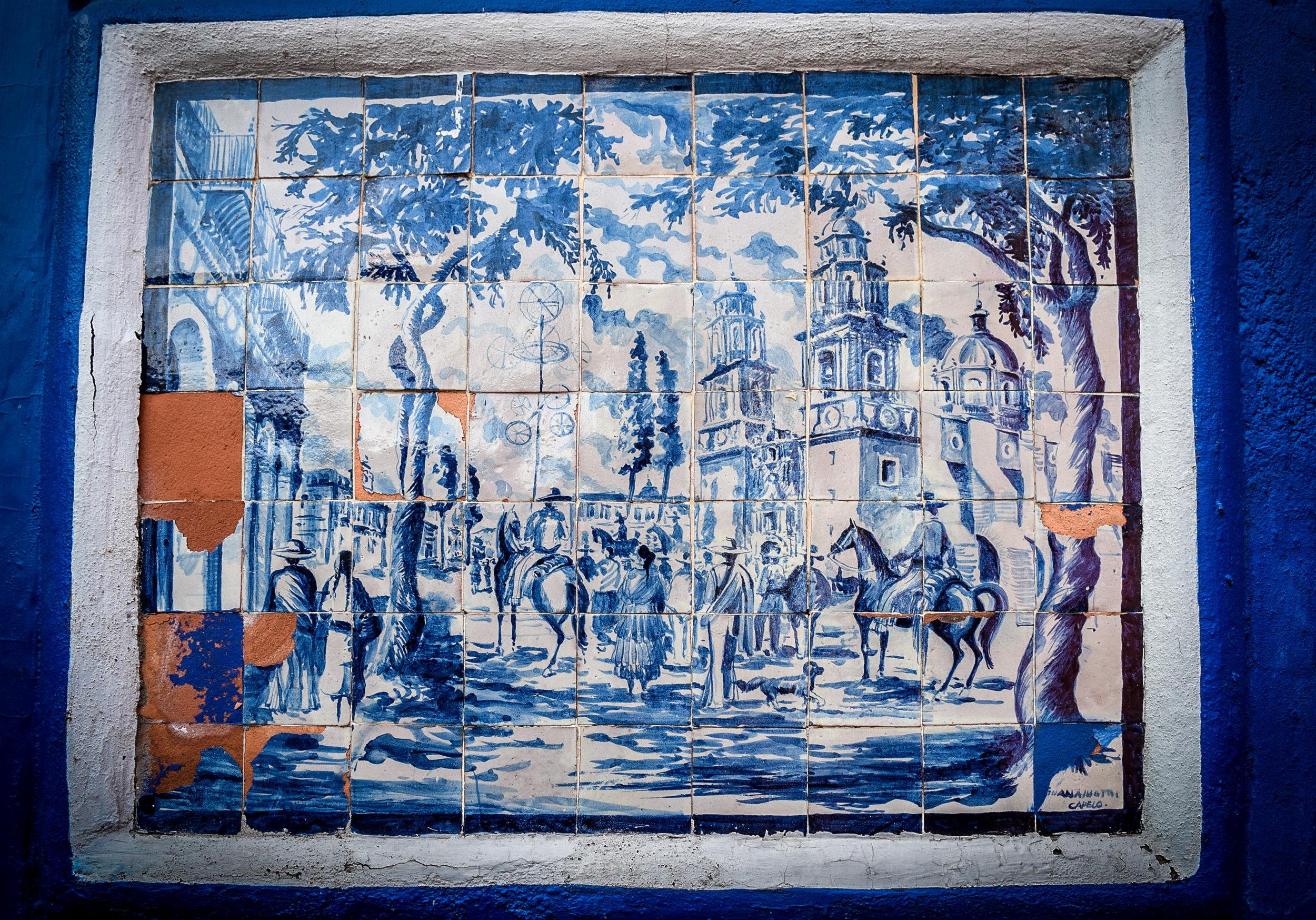 Tile street art in Guanajuato