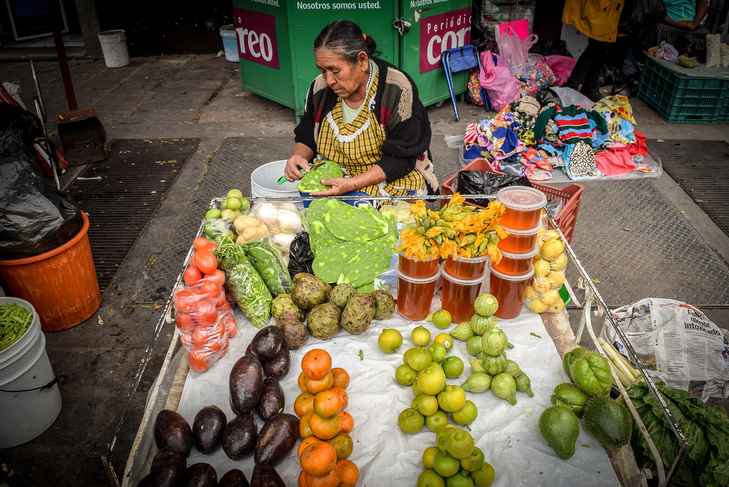 Street vendor in Guanajuato