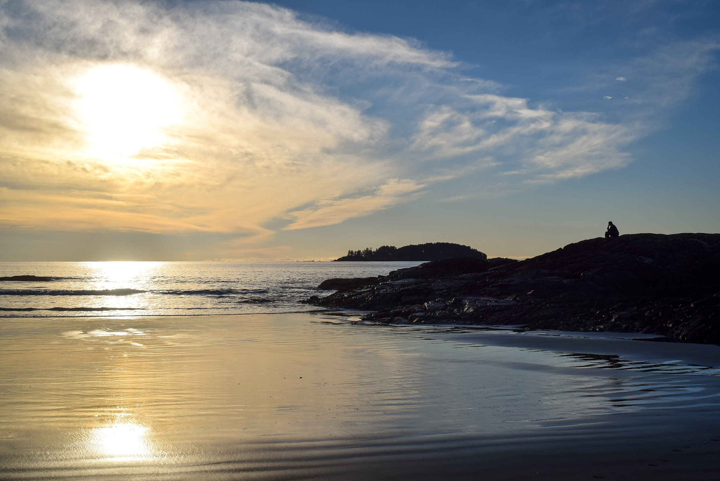 Sunset at Chesterman Beach in Tofino