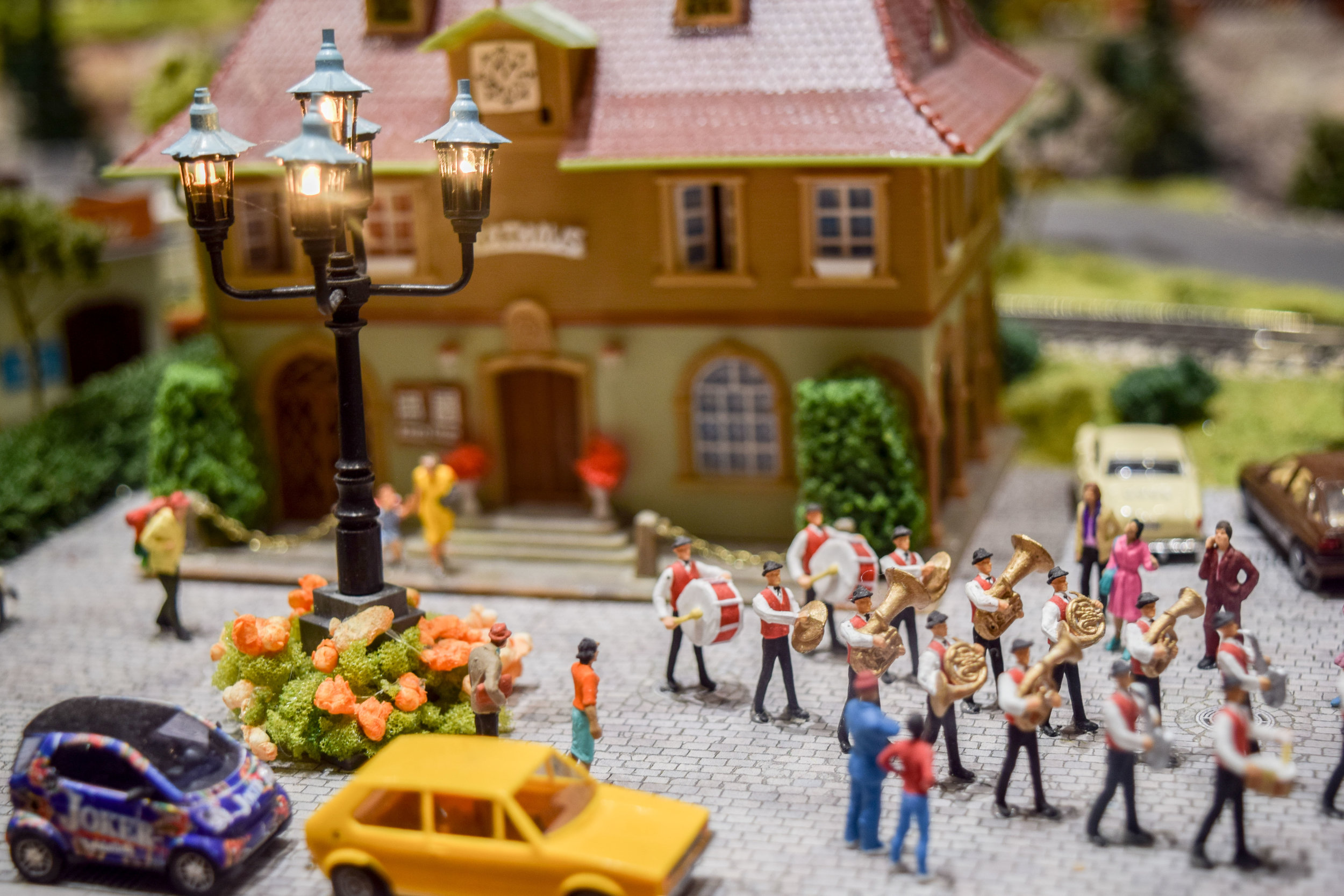 Miniature European marching band