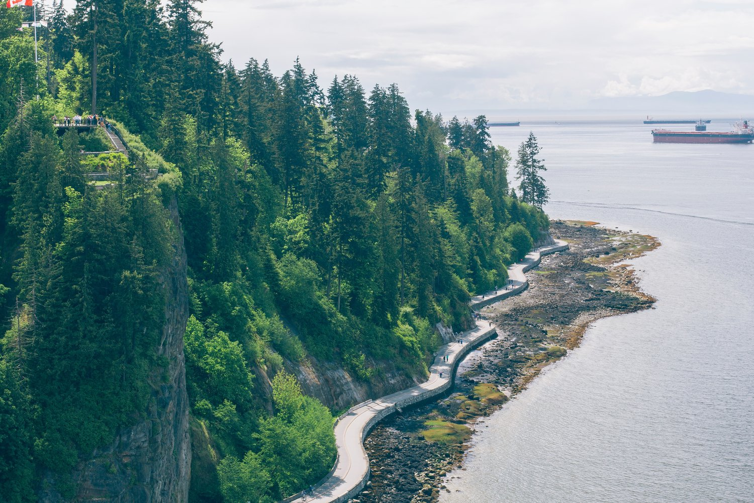 Prospect Point and the Seawall in Stanley Park