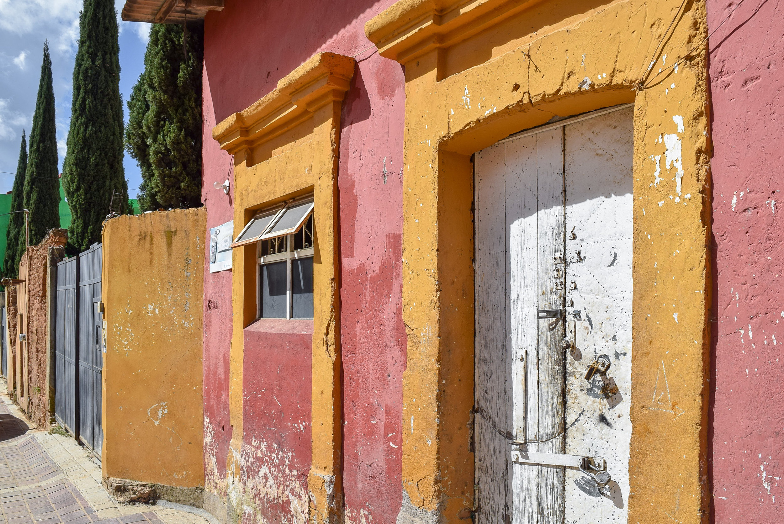 Colorful buildings in Santa Rosa de Lima, Mexico