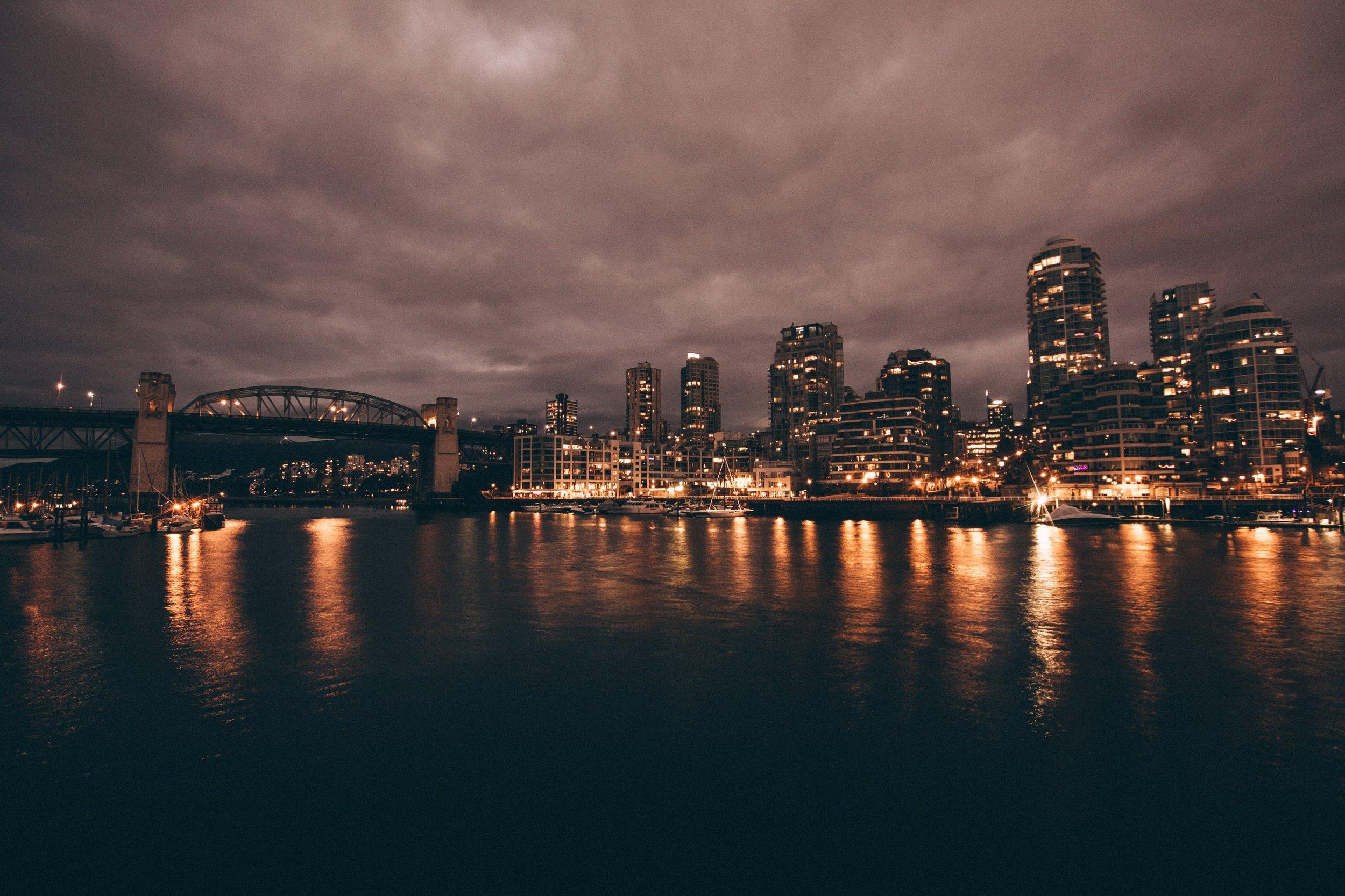 False Creek and Burrard Street Bridge, Vancouver