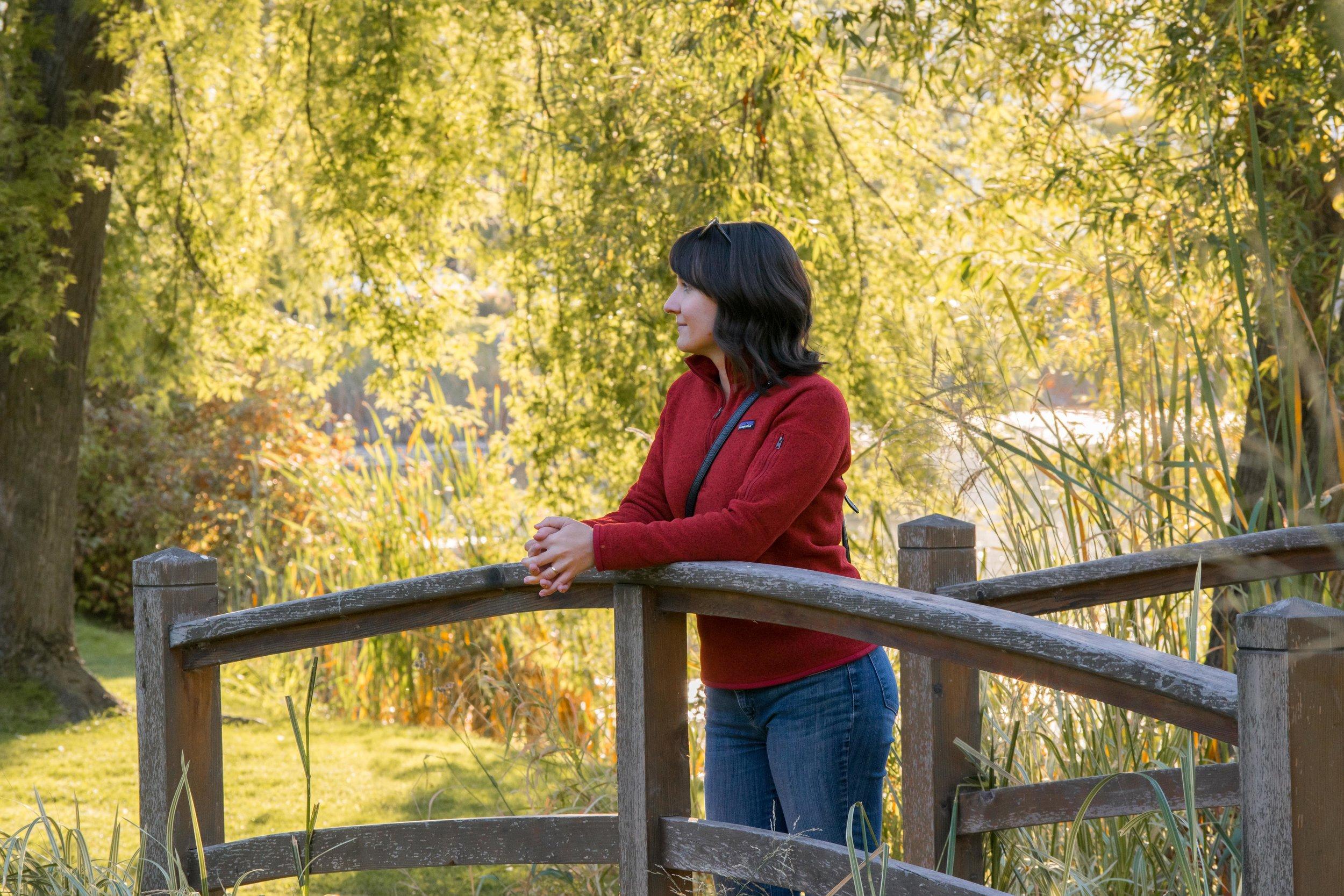 Bridge in McGuire Lake Park in Salmon Arm