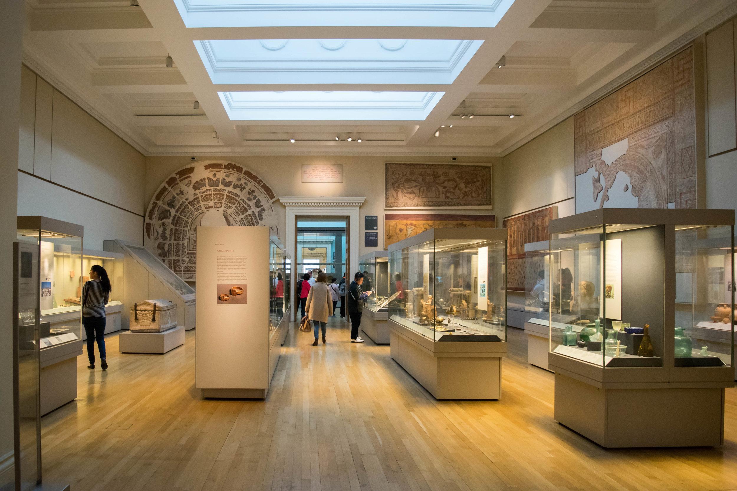 Roman Britain display in the British Museum