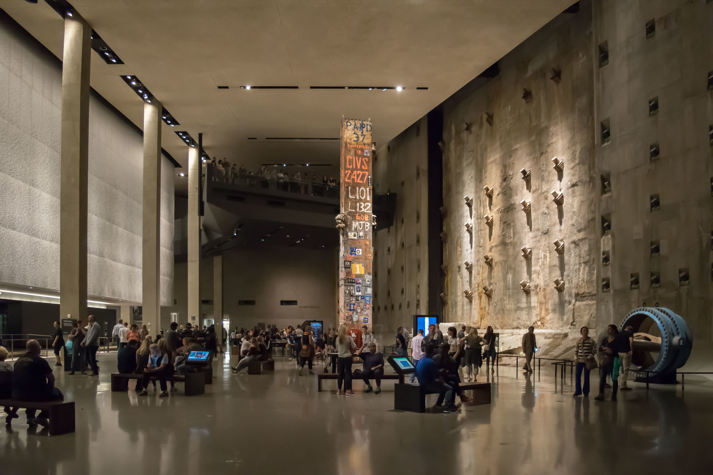 Foundation Hall in the 9/11 Museum