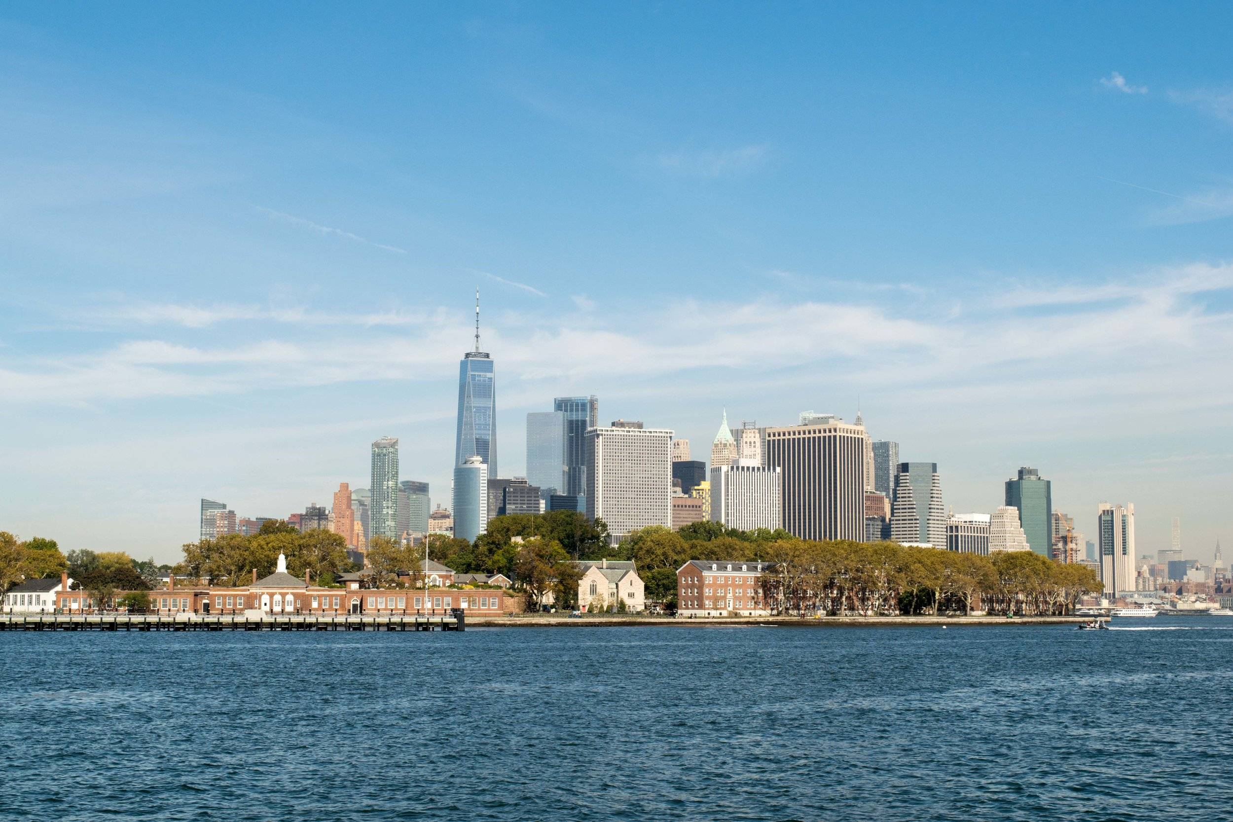 Governors Island and Manhattan