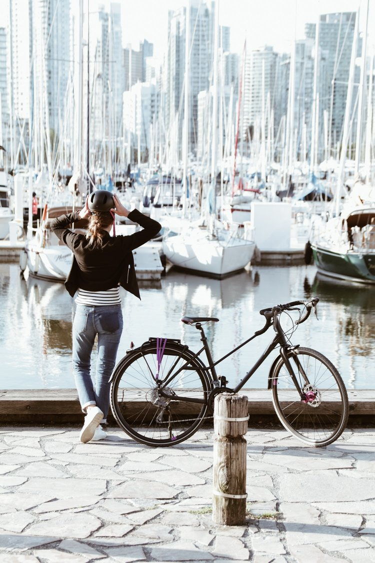 Cyclist on the Seawall