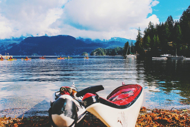 Kayaks in Deep Cove
