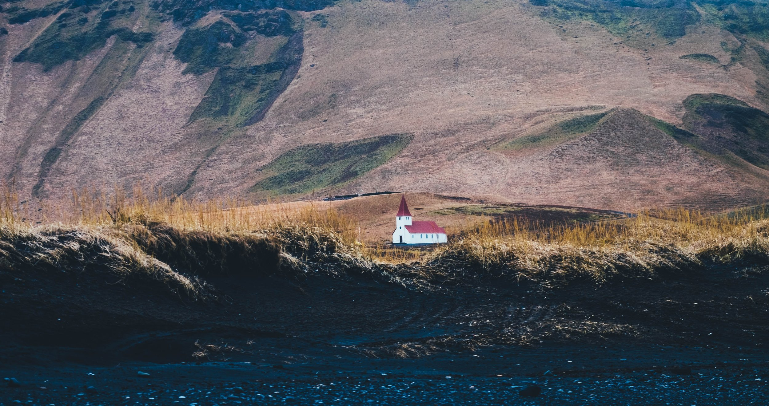 Lone church in Iceland