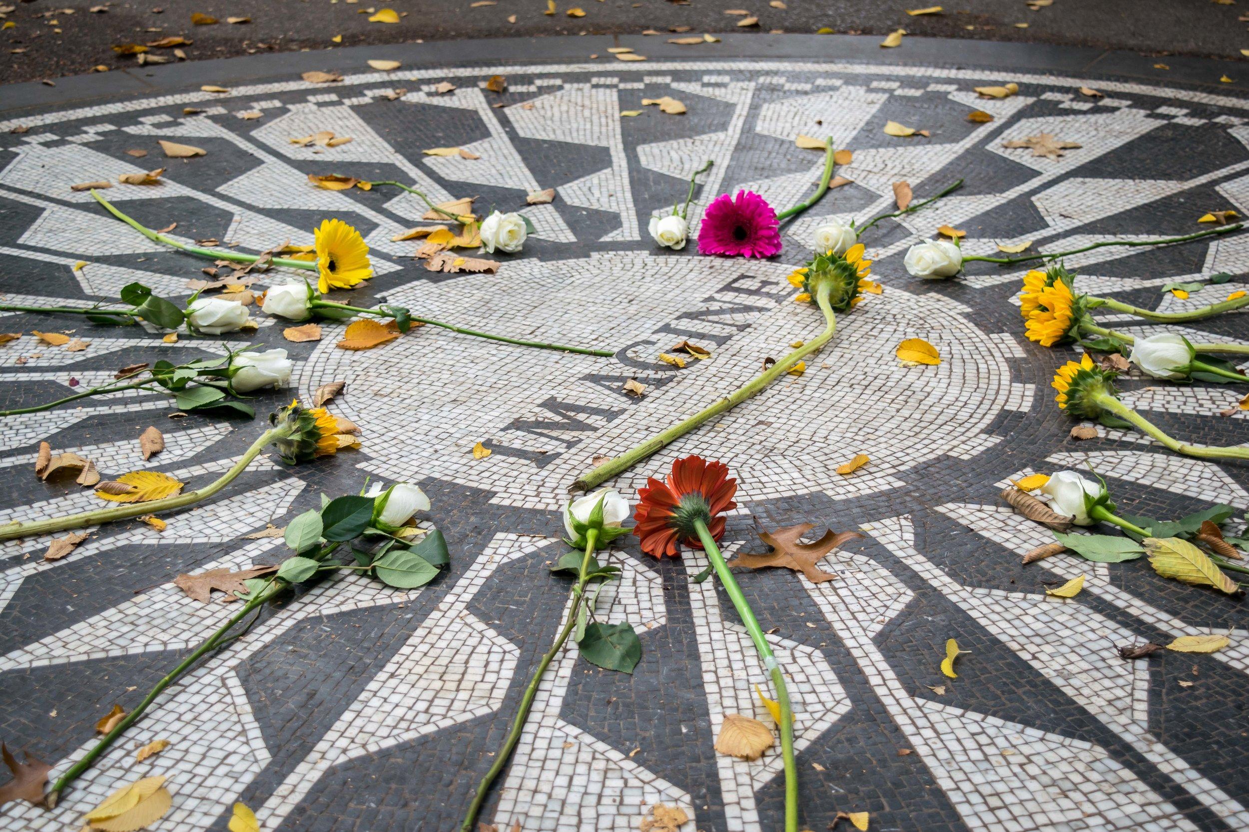 John Lennon 'Imagine' Monument in Strawberry Fields