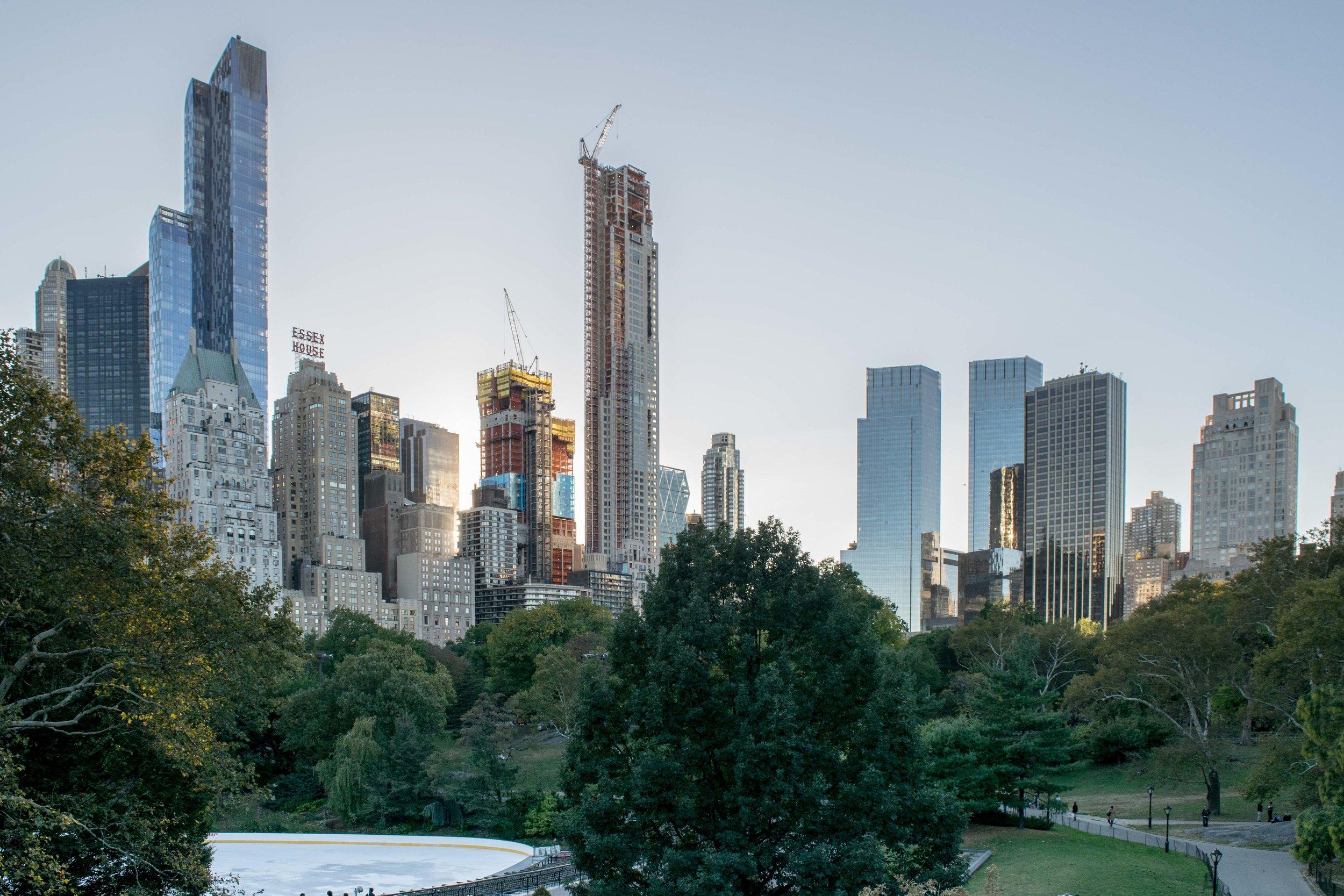 Manhattan skyline views from Central Park