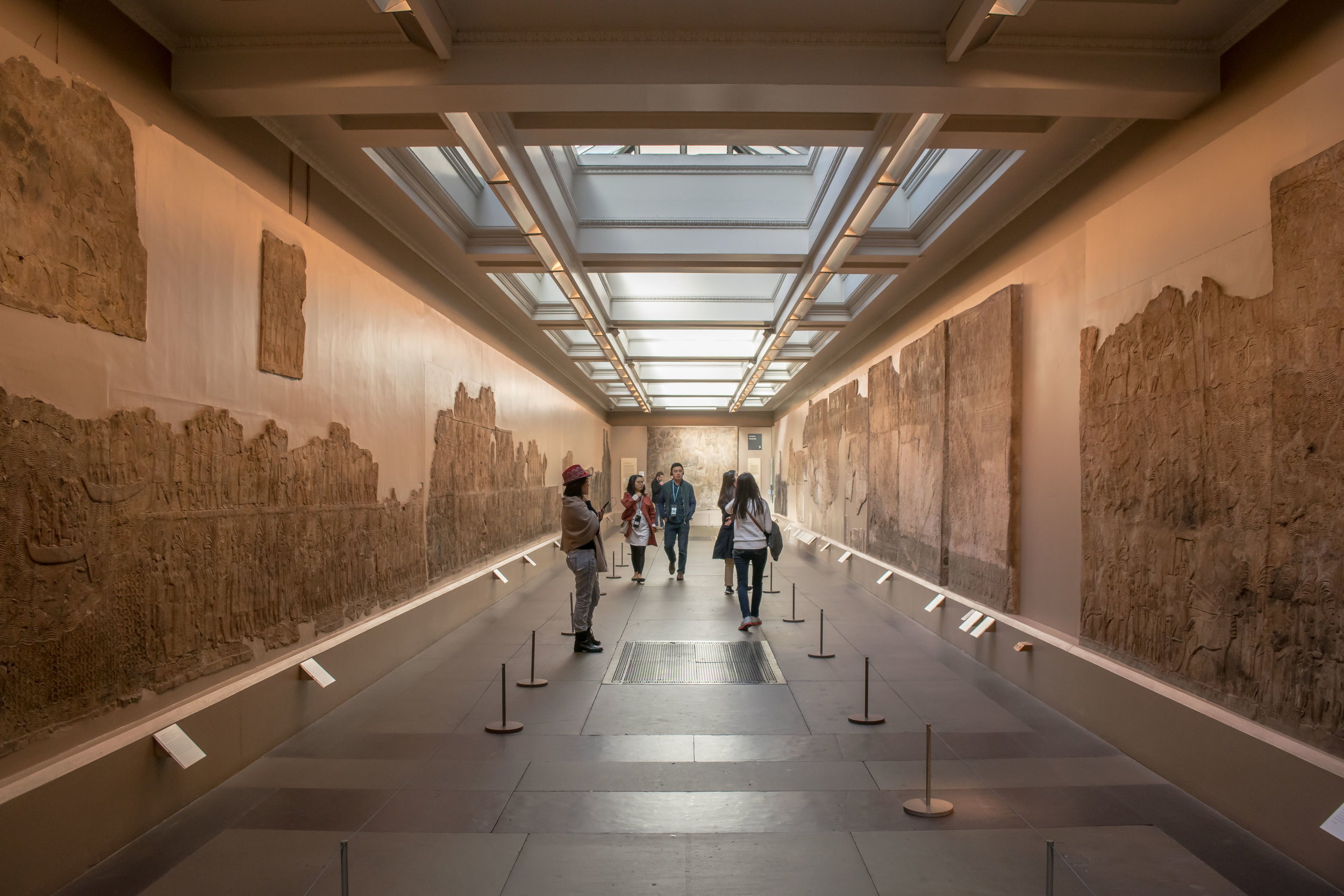 Walkway through the Assyrian Gallery in the British Museum