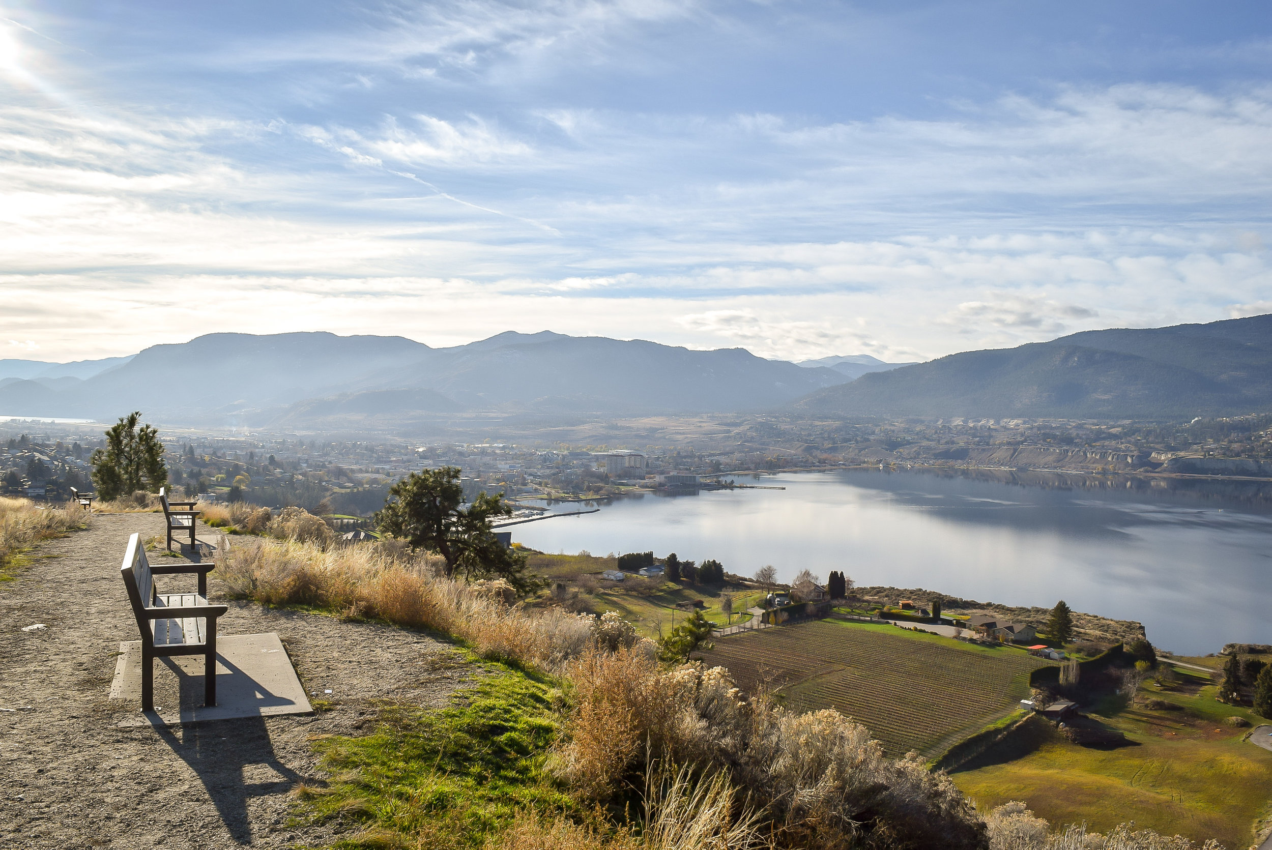 View of Penticton from Munson Mountain