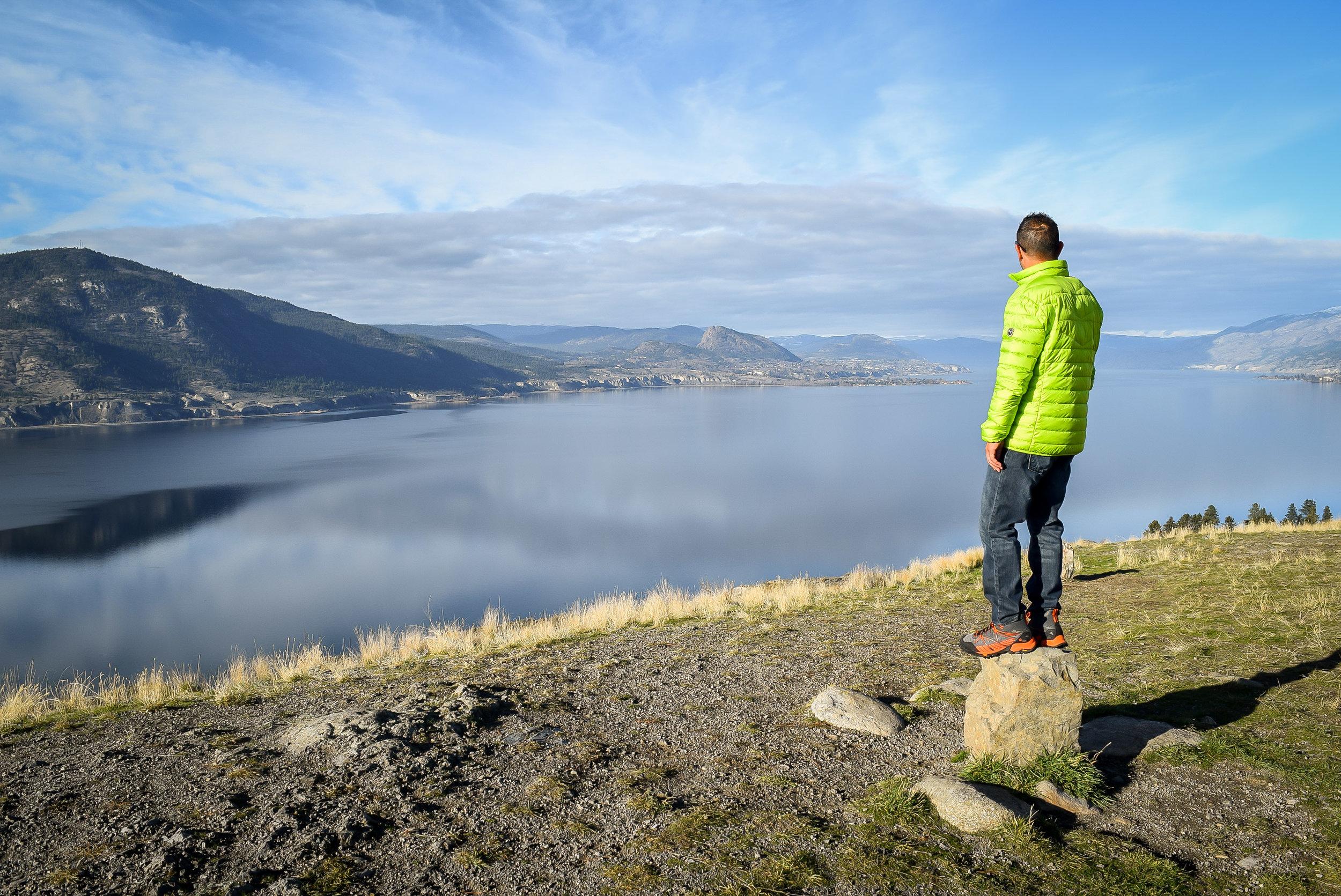 View of Okanagan Lake from Munson Mountain