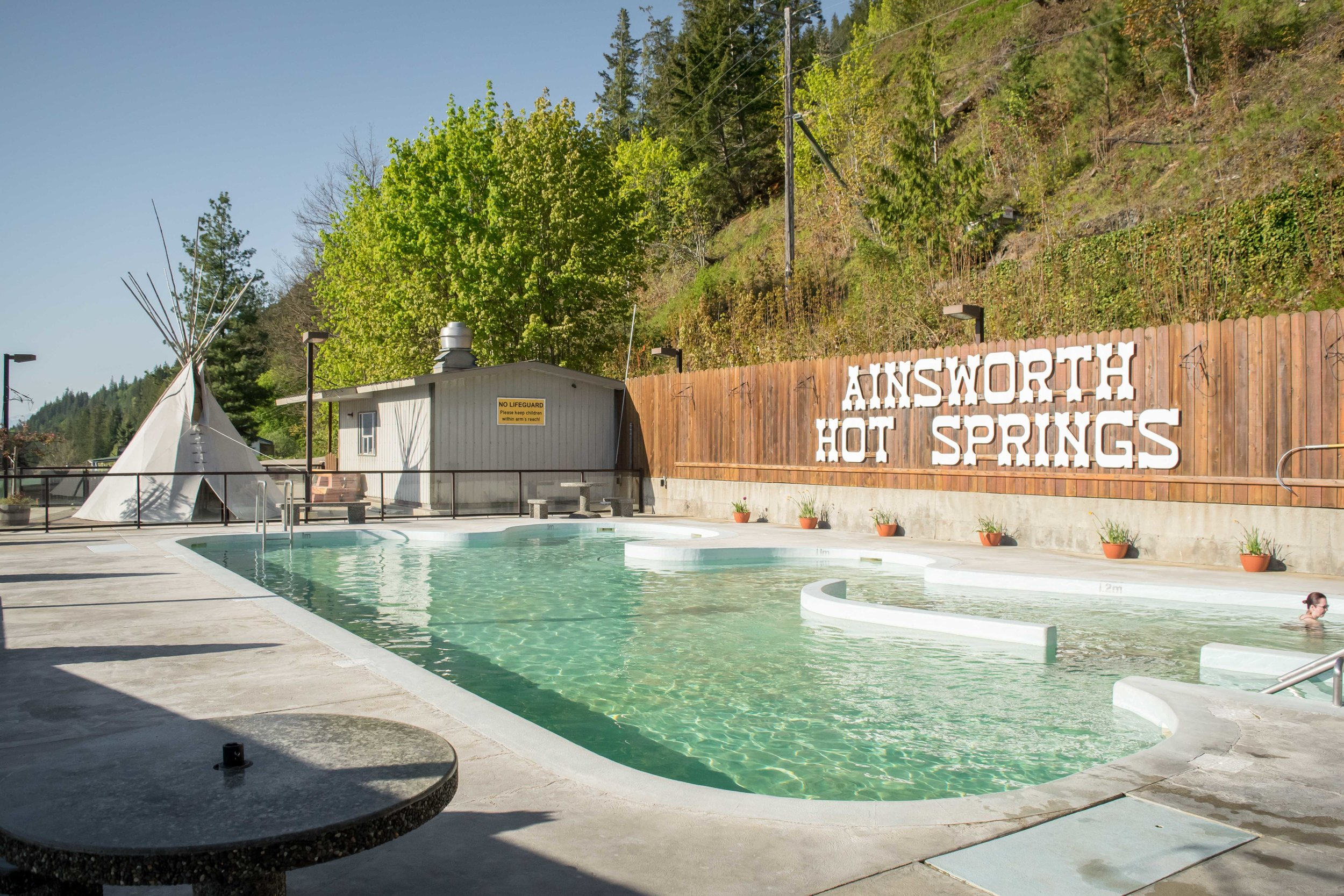 Pool at Ainsworth Hot Springs