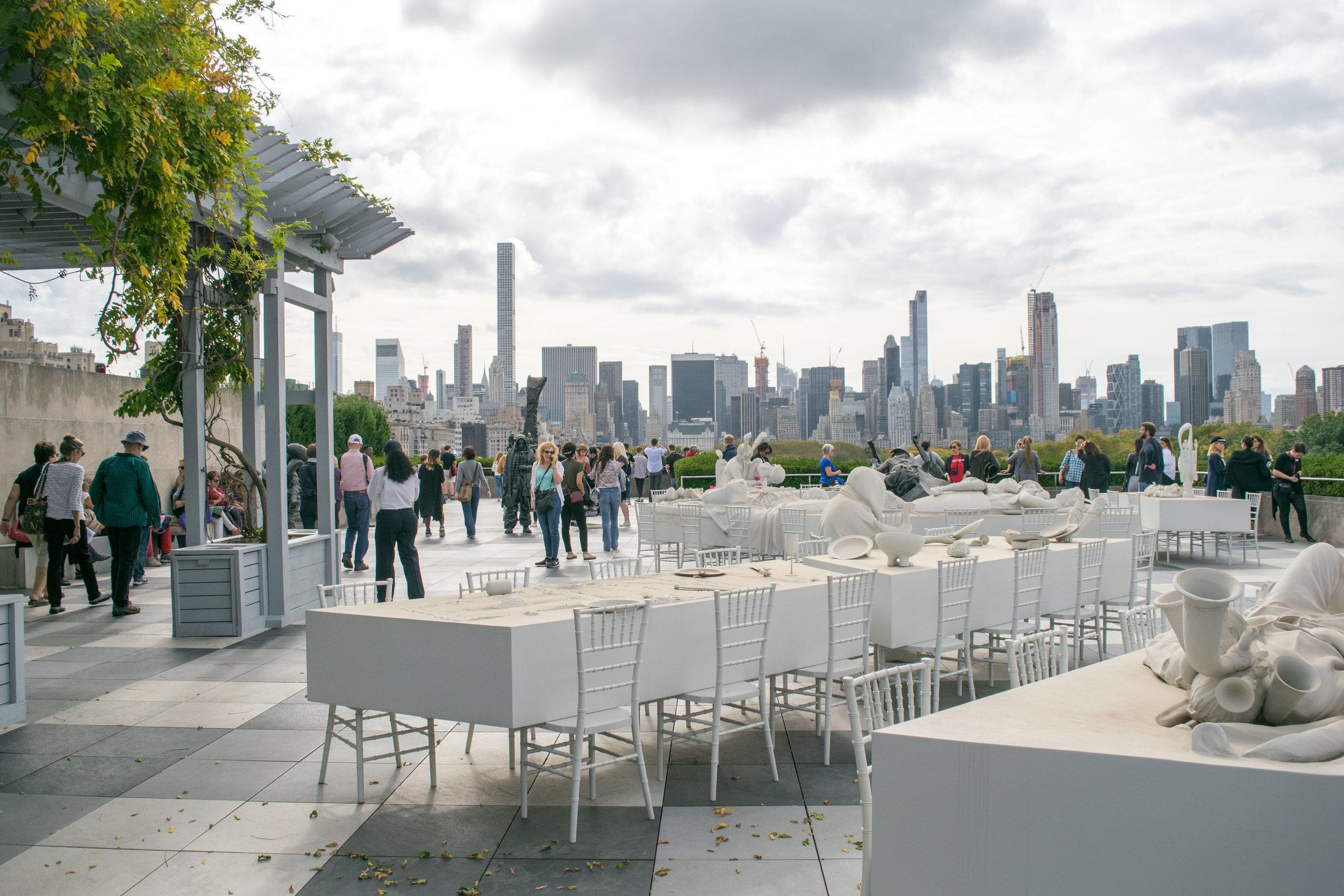 The Cantor Roof Garden Bar at the Metropolitan Museum of Art