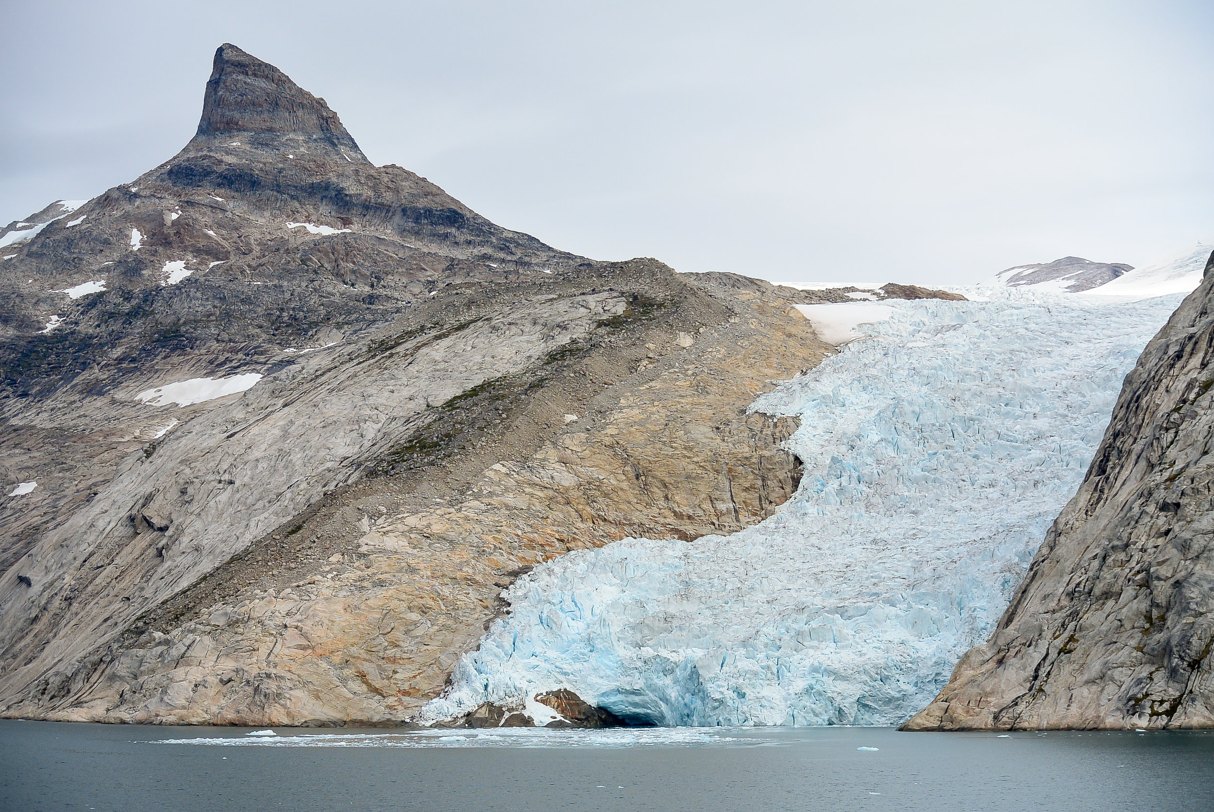 Glacier in Prince Christian Sound, Southern Greenland