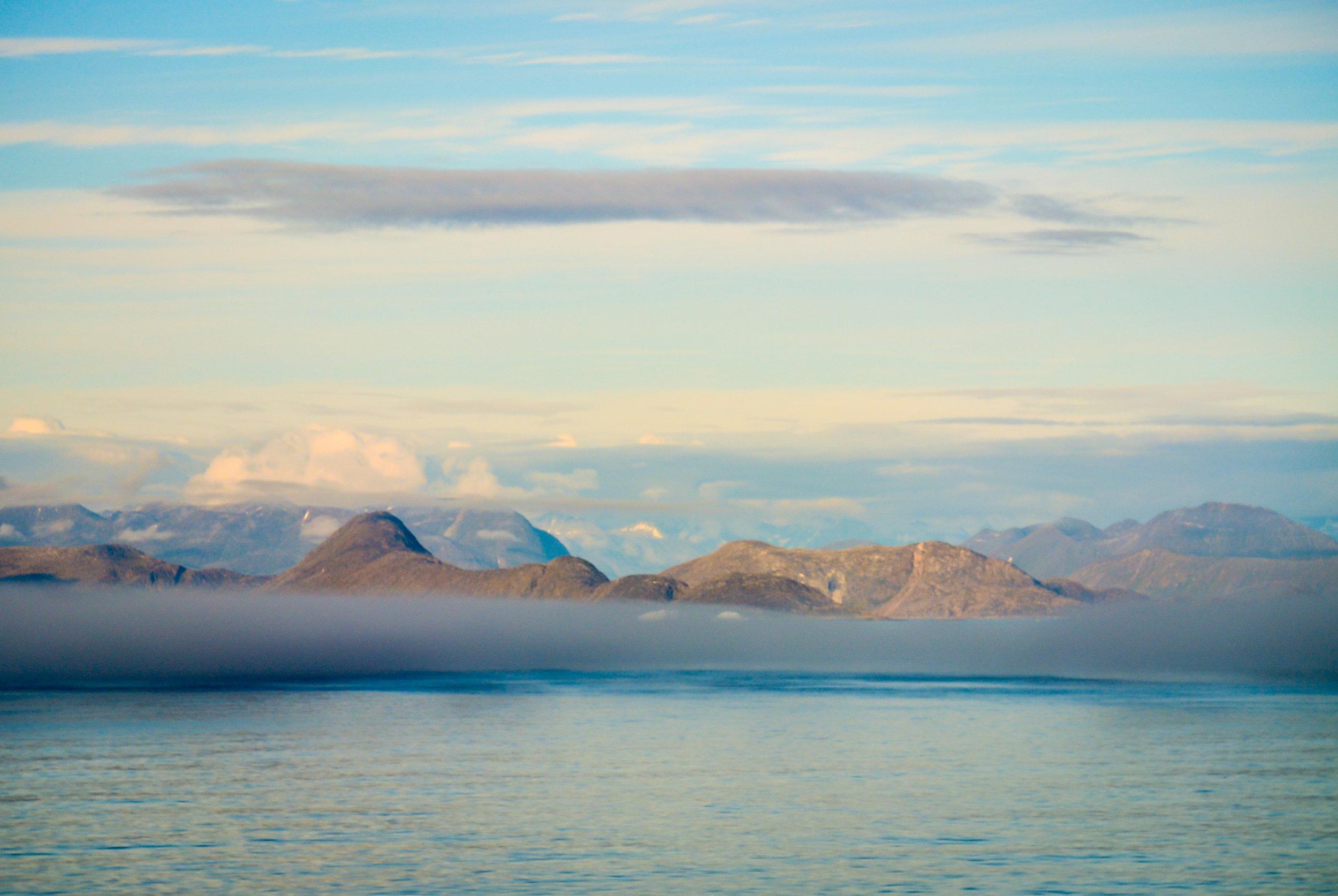 Coastline of southern Greenland
