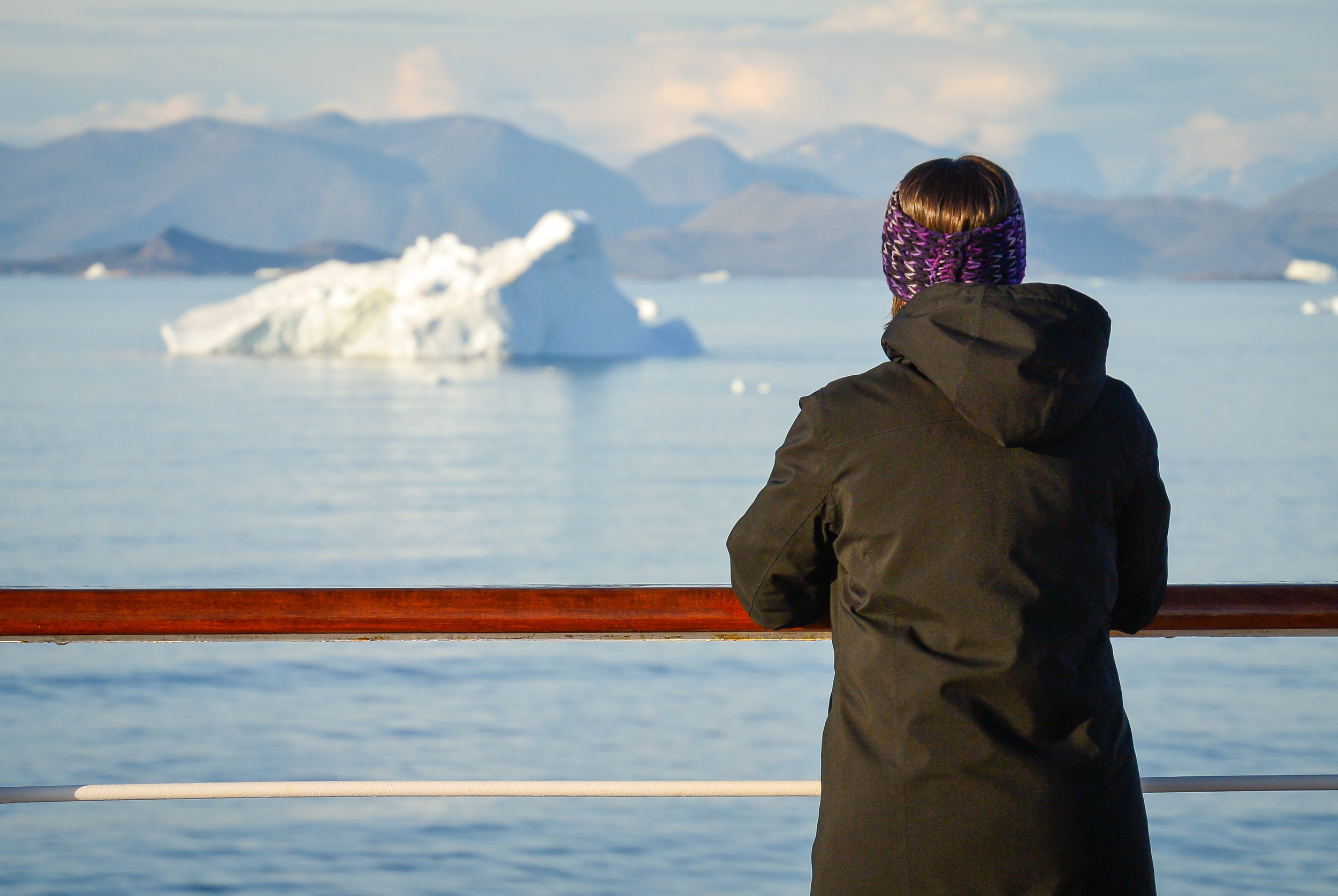 Watching the icebergs float by off the coast of Southern Greenland