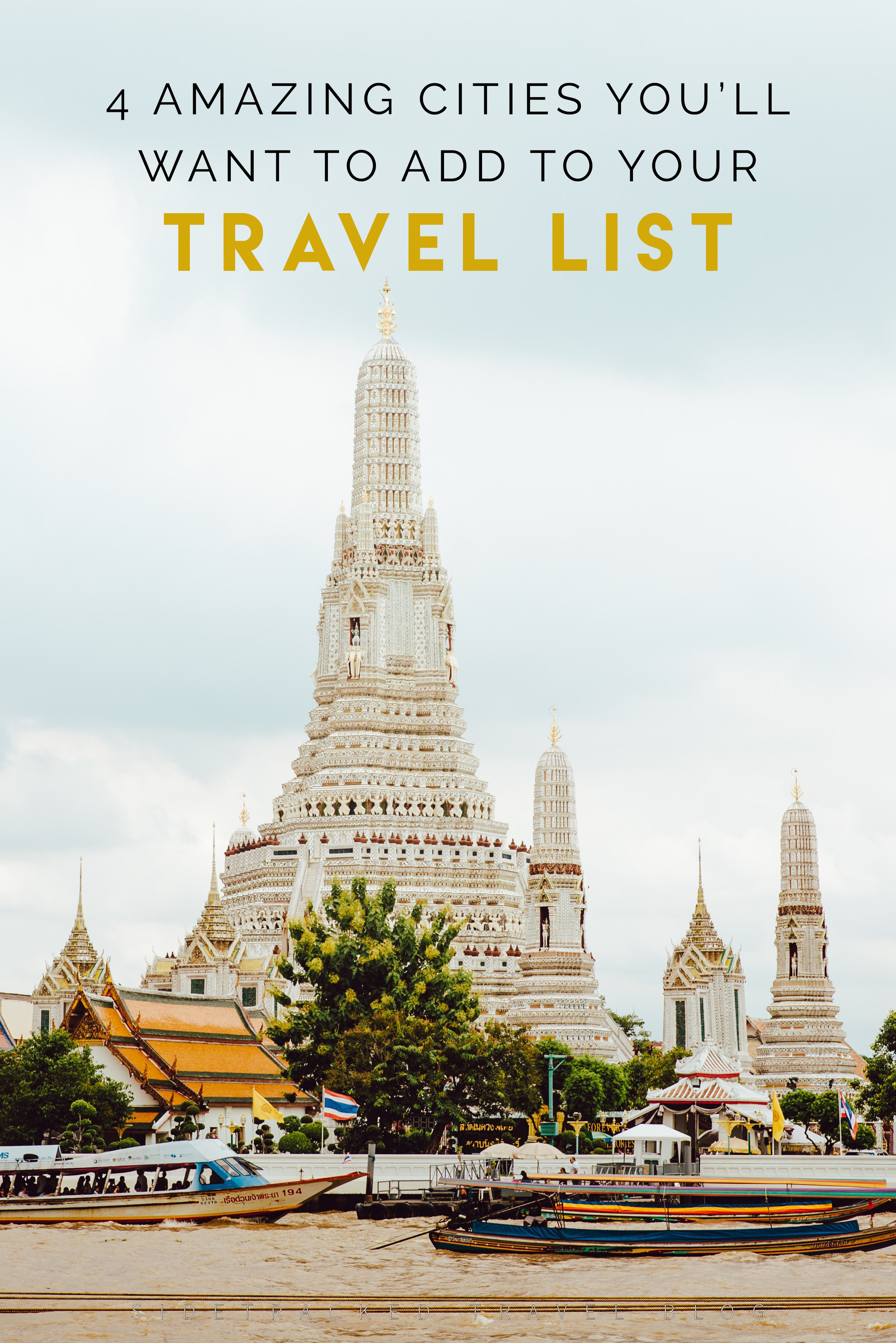 Life is short, so you need to make sure you explore as much of the world as you can, as soon as you can. There are so many amazing cities in the world, each with its own unique history and culture just waiting for you to explore. Here are 4 amazing cities you'll want to add to your travel list right away!