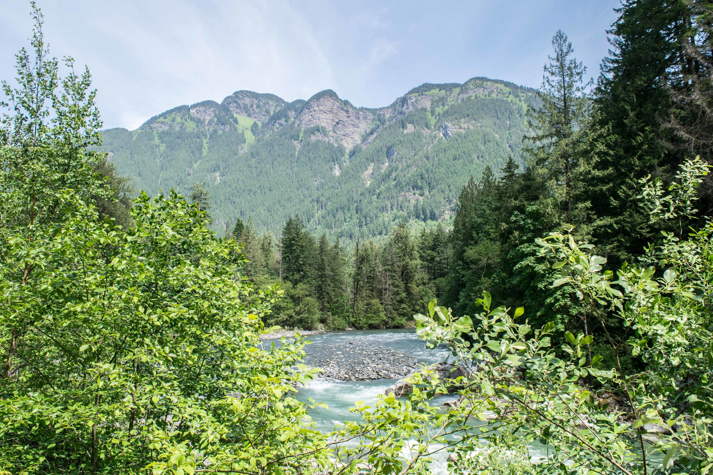 View of the Coquihalla River from the Tunnel Trail in Coquihalla Canyon Provincial Park