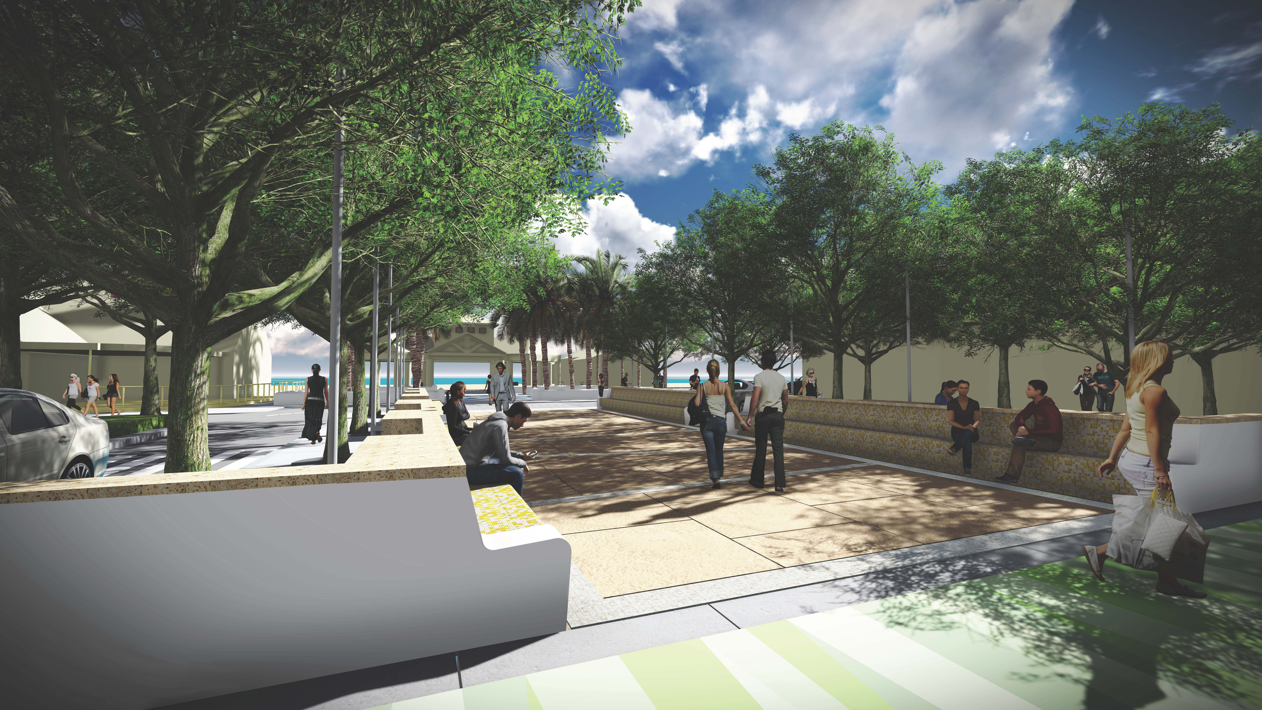 Dunes and Beach Plaza Rendering