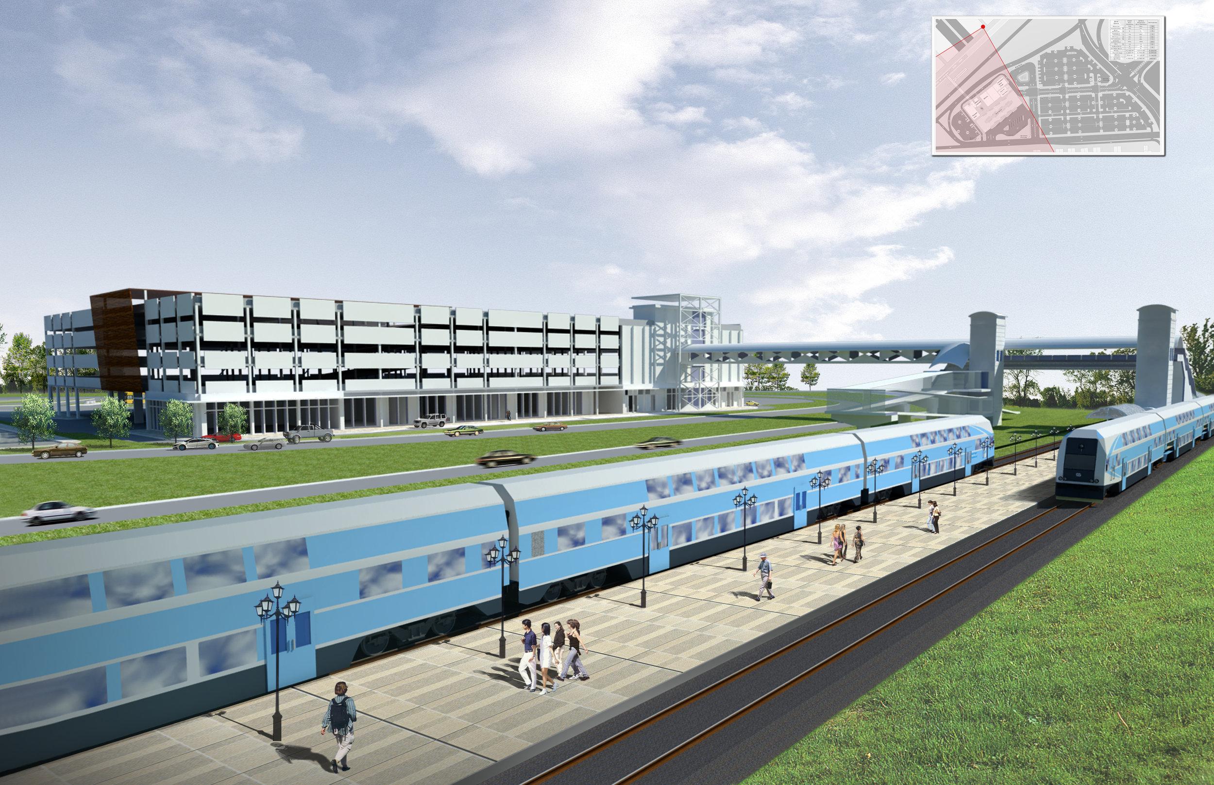 Tri-Rail Platform (garage and bridge beyond)