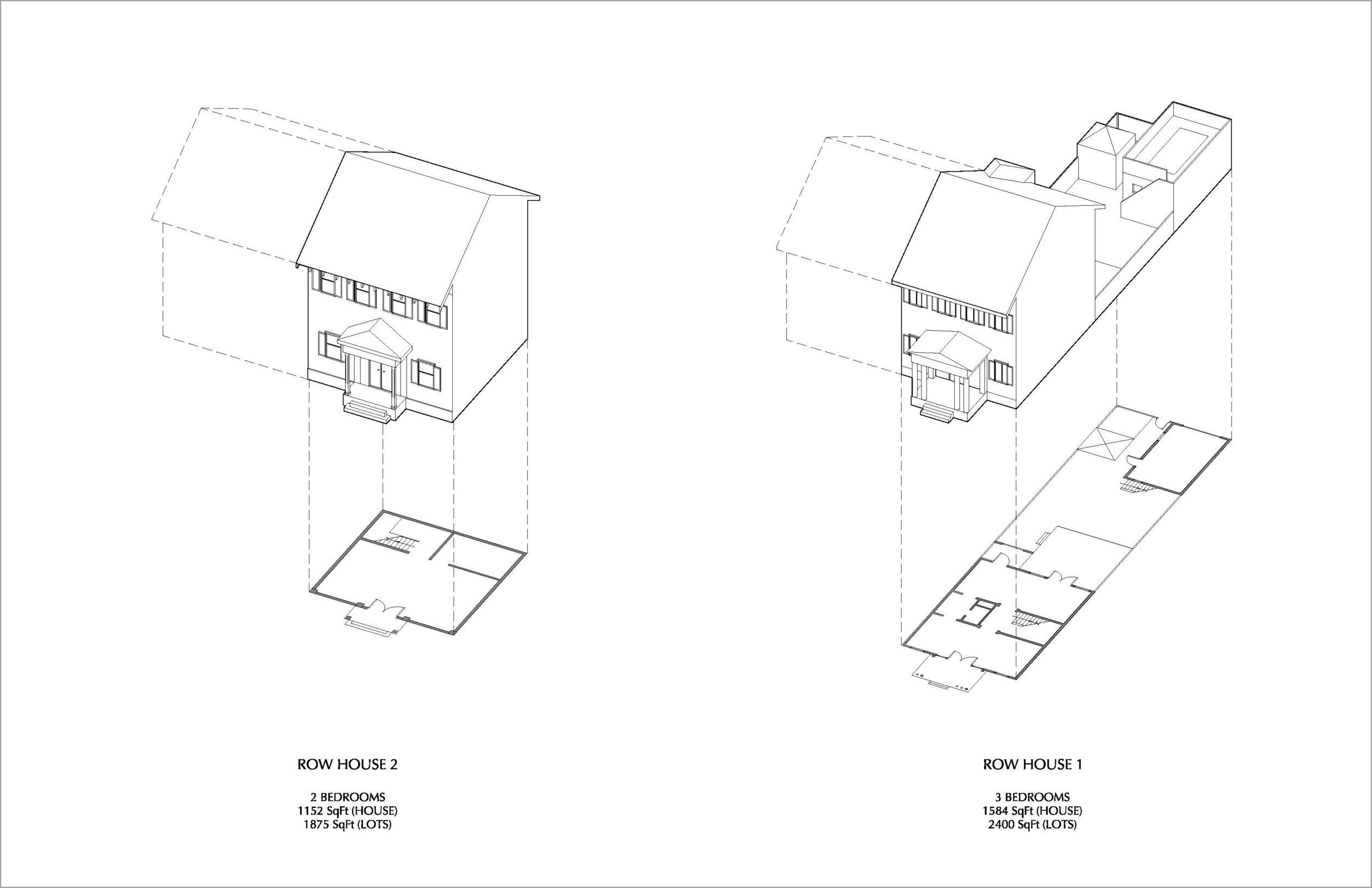 Proposed Rowhouse Typologies (design by Juan Caruncho)