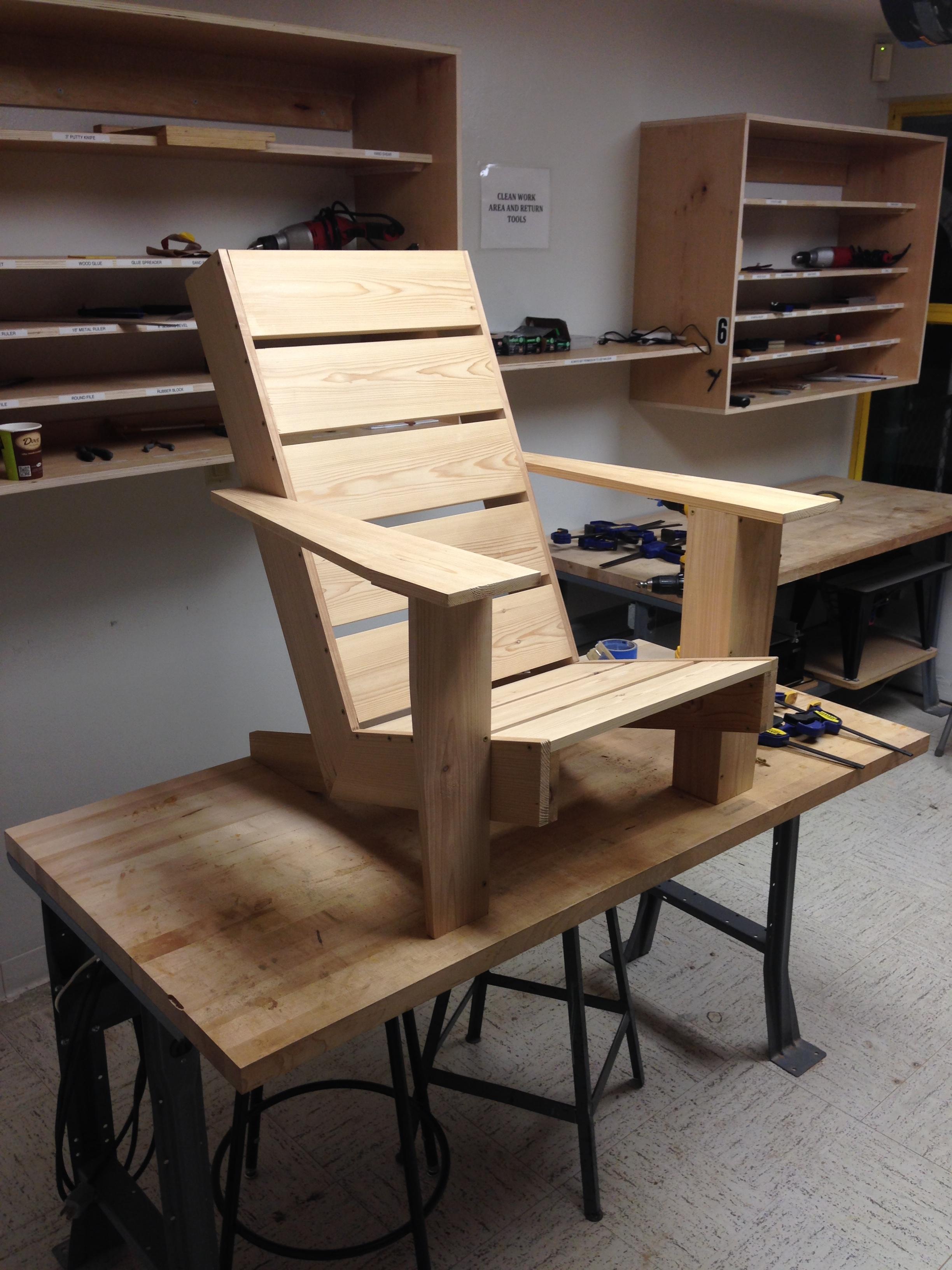 Finished Prototype Adirondak Chair