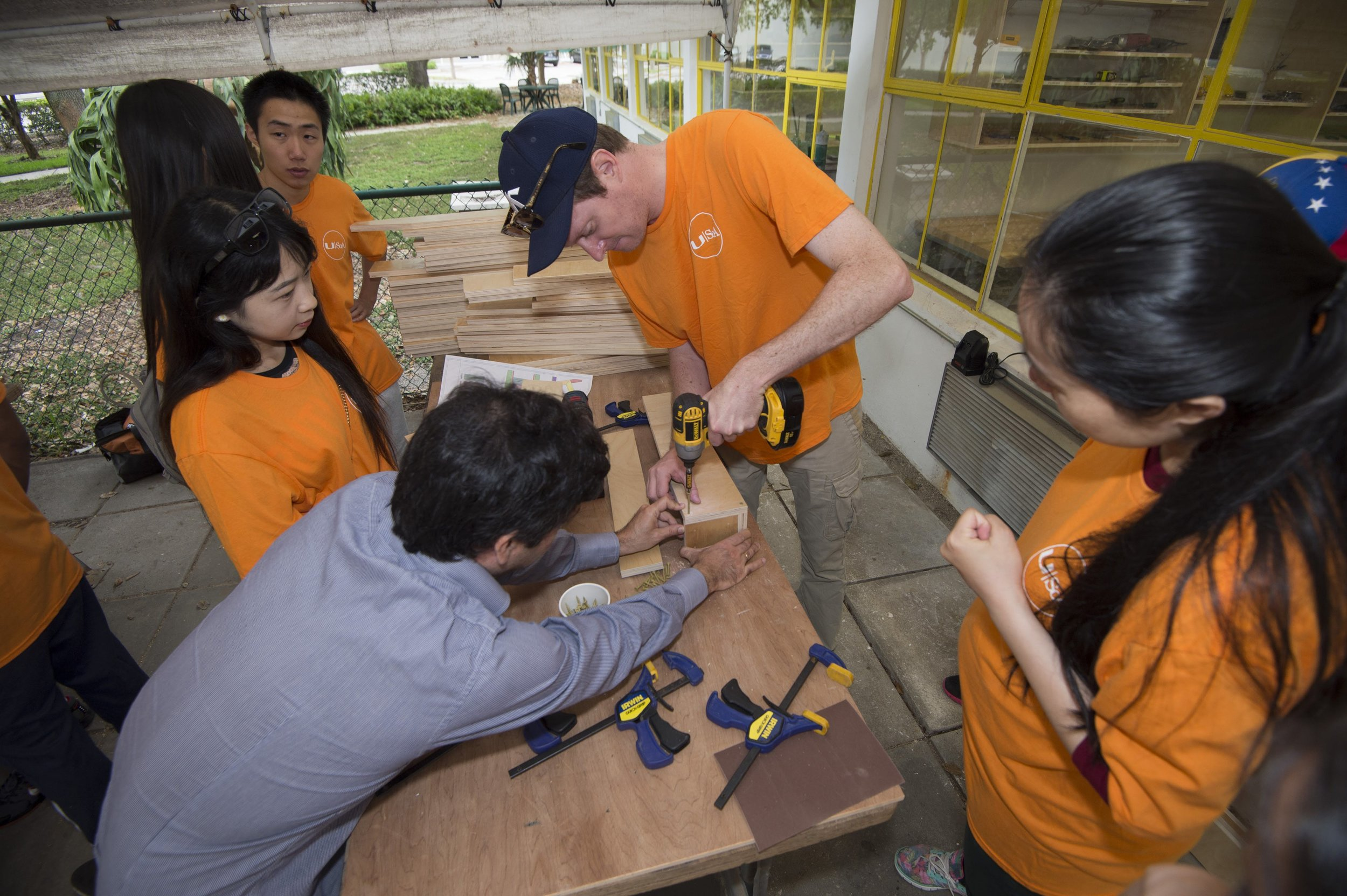 Chair Assembly With Students