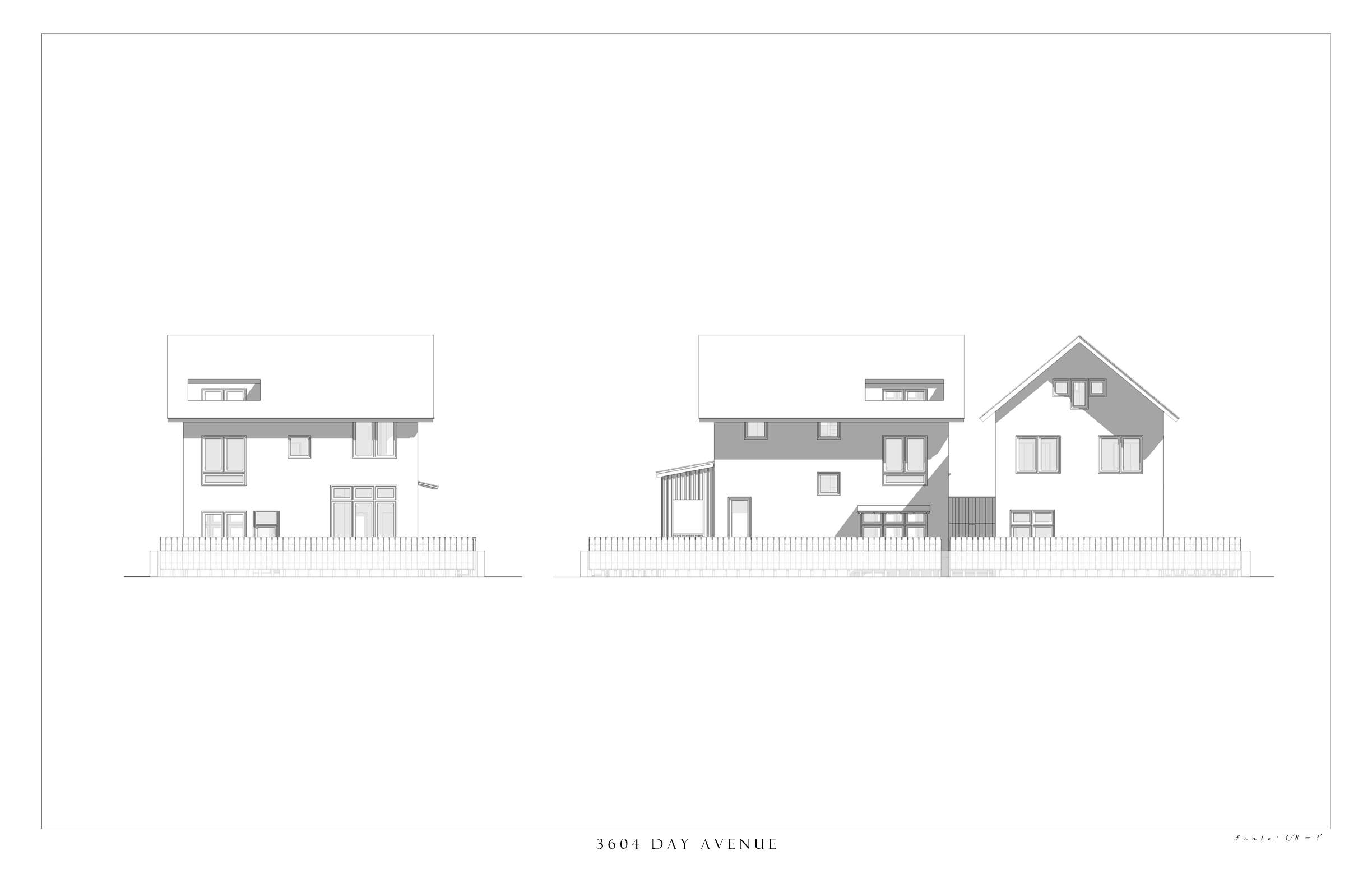 South and West Elevations