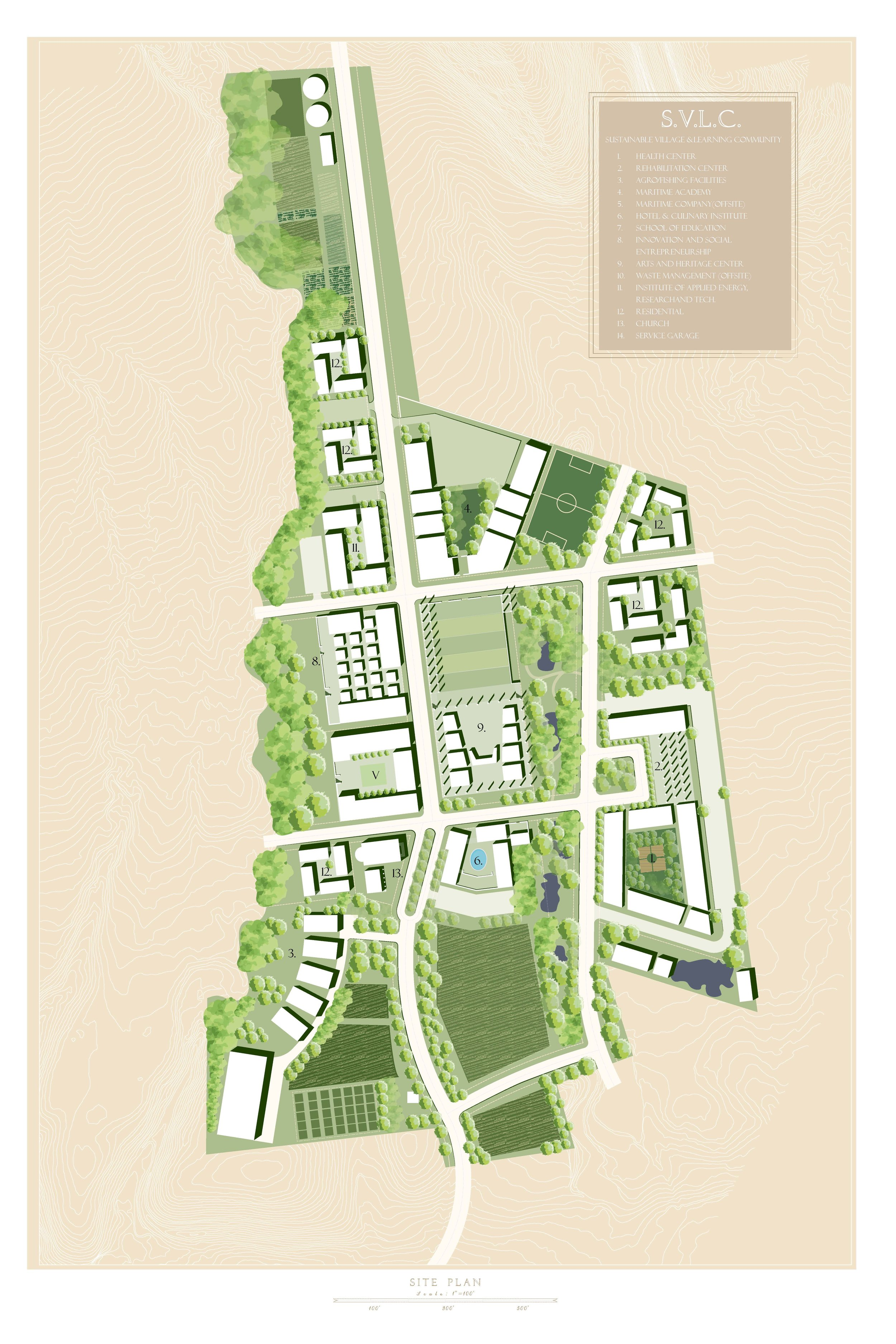 Masterplan of the Sustainable Village and Learning Community